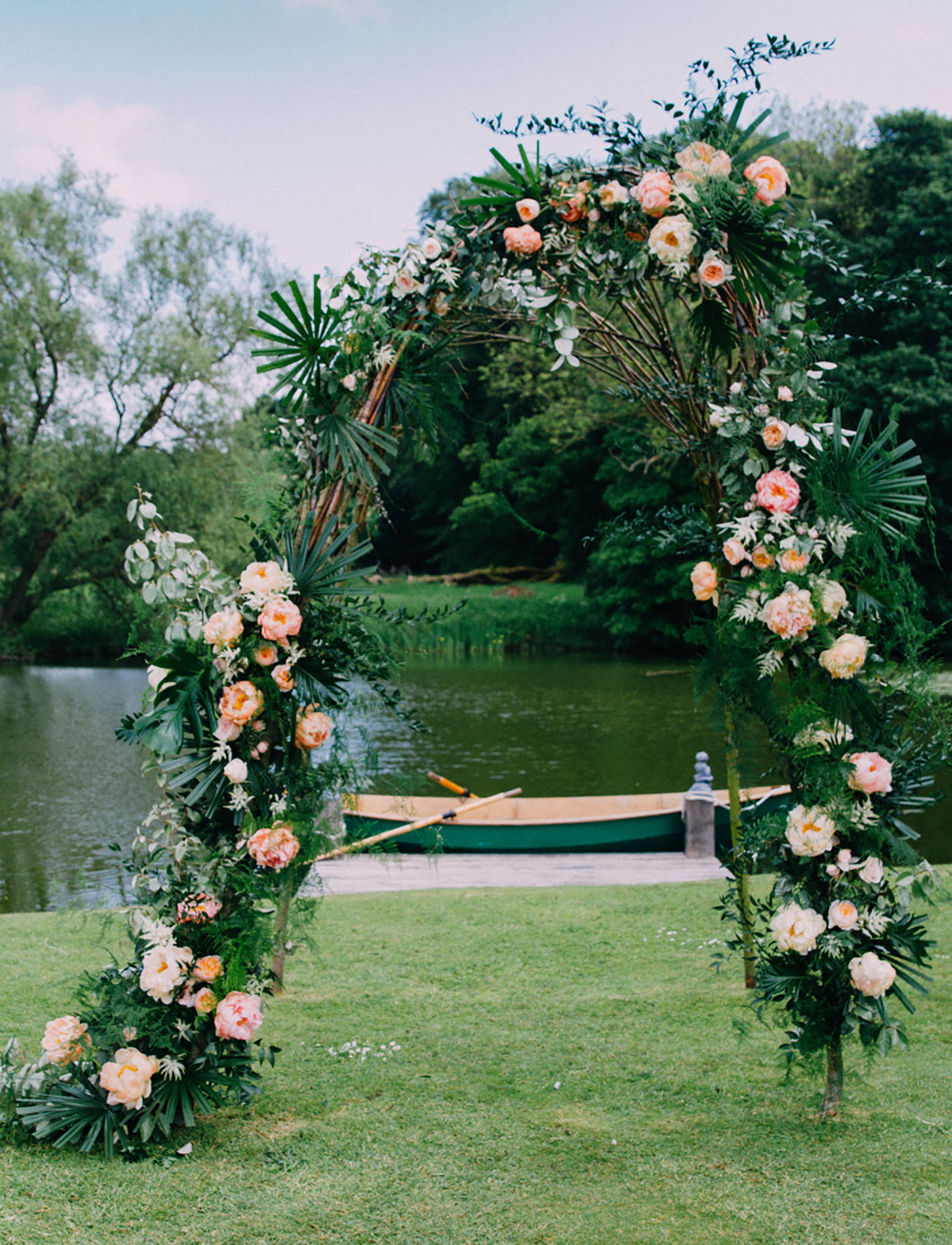 tropical flower arch