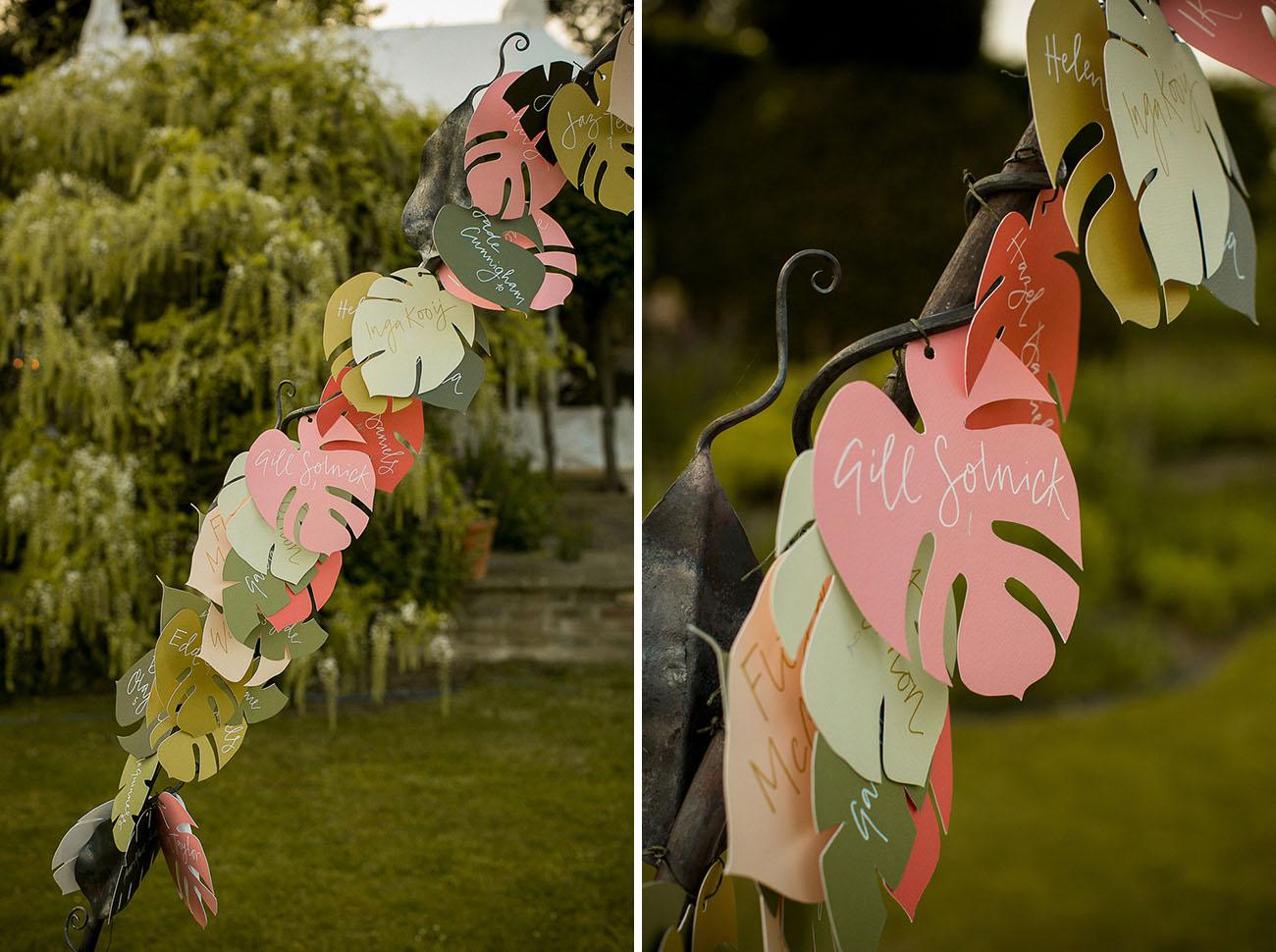 paper leaf arch