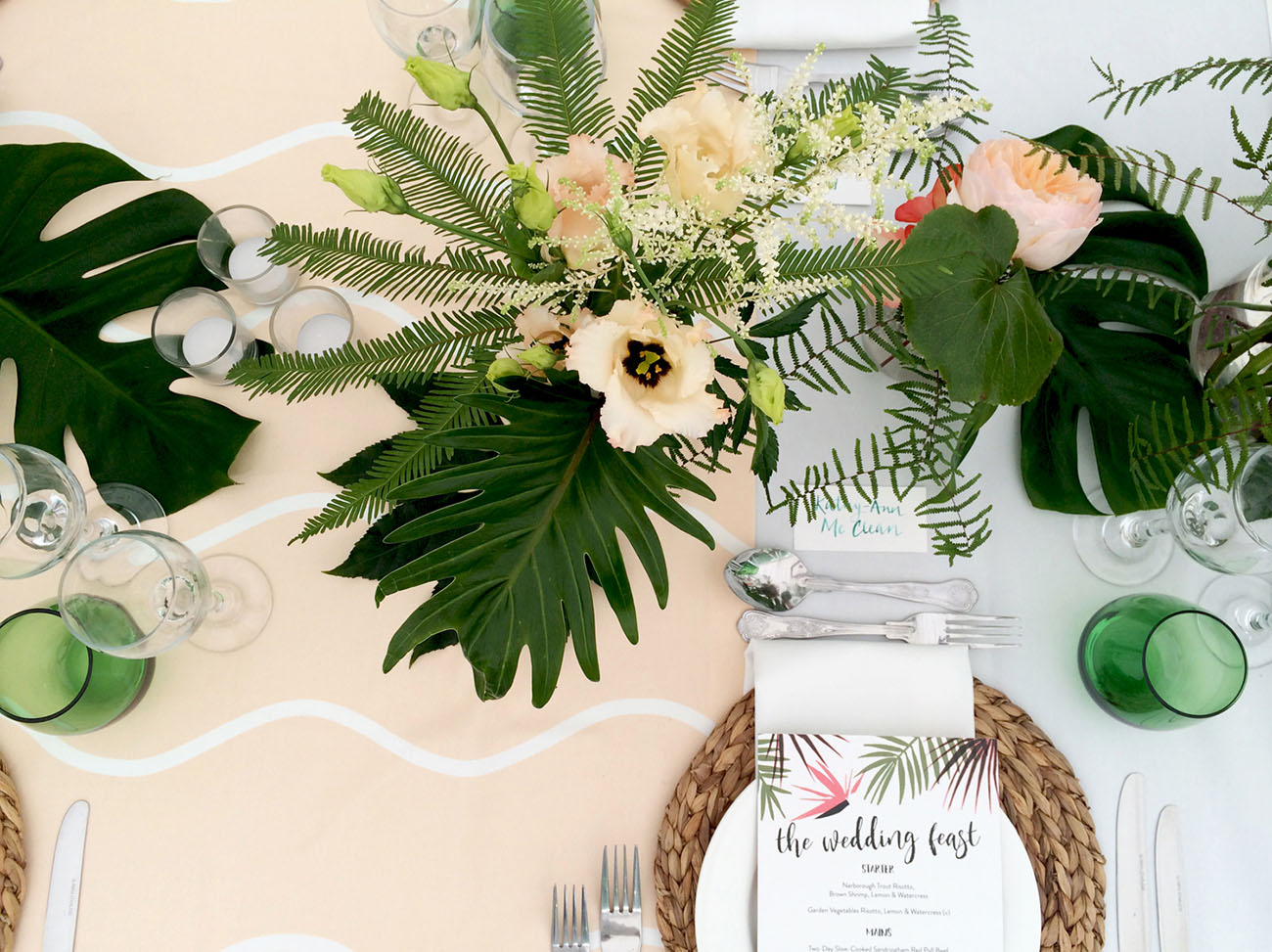 Tropical UK Wedding