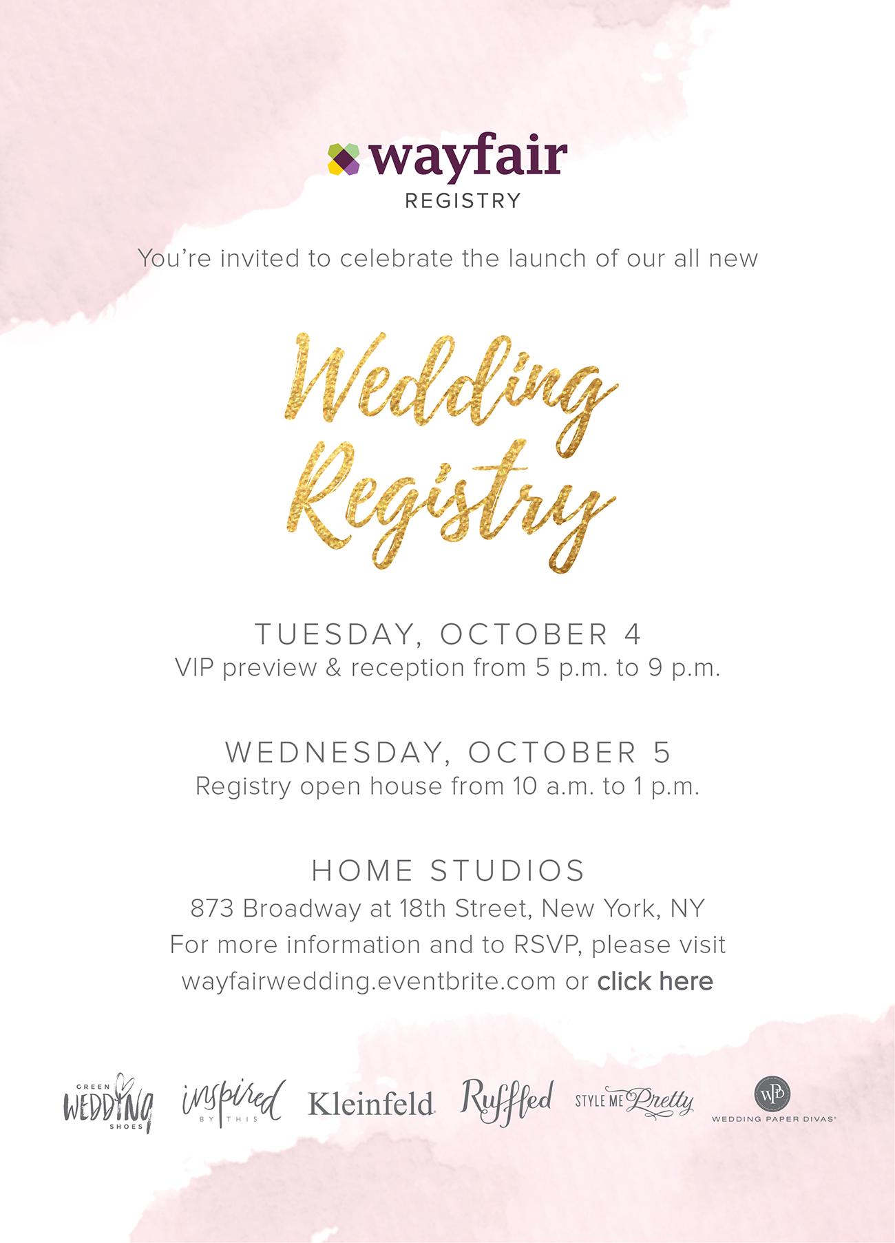 Wayfair Registry Event
