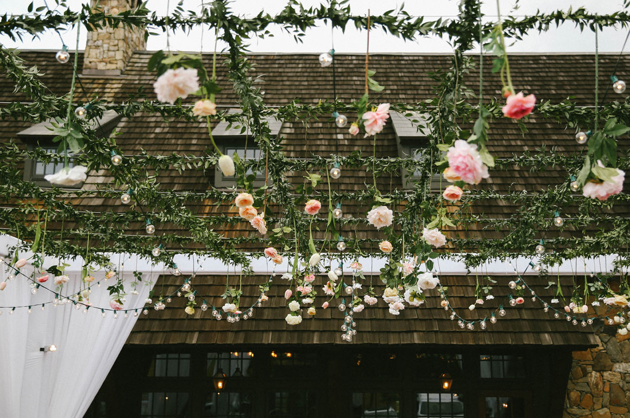 floral trellis ceiling
