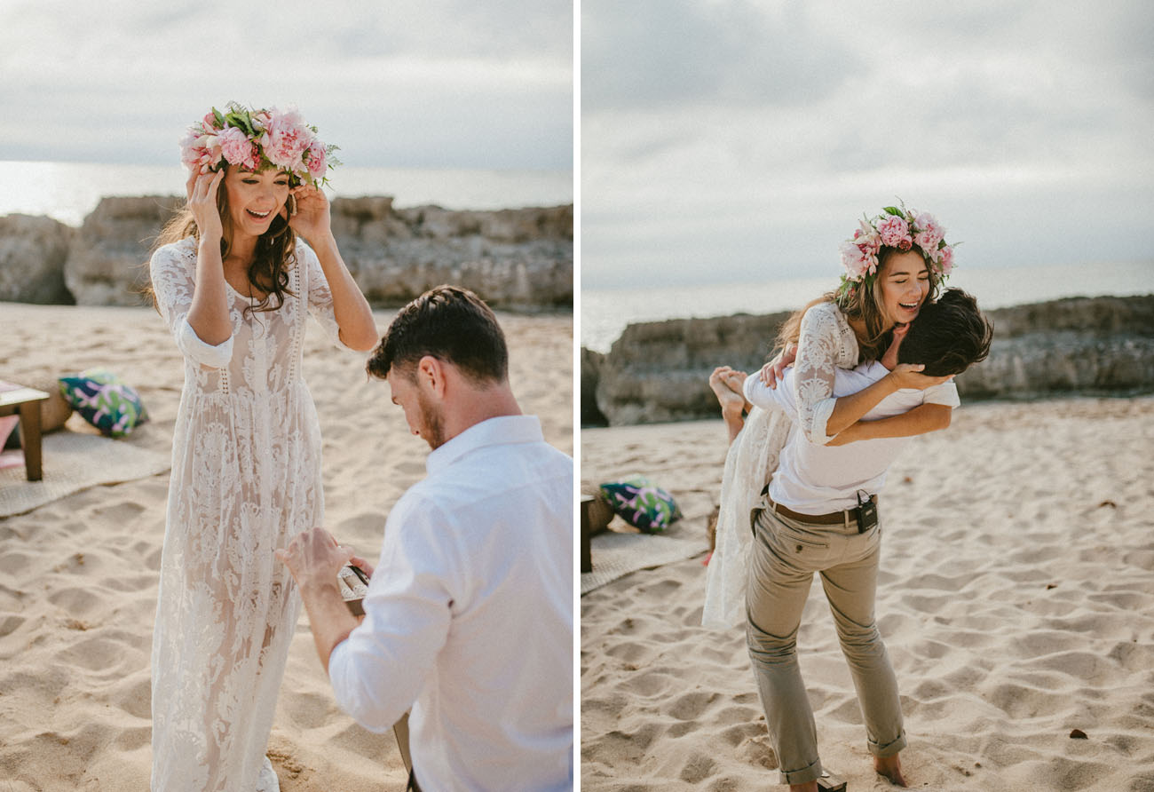 Stunning Surprise Beach Proposal