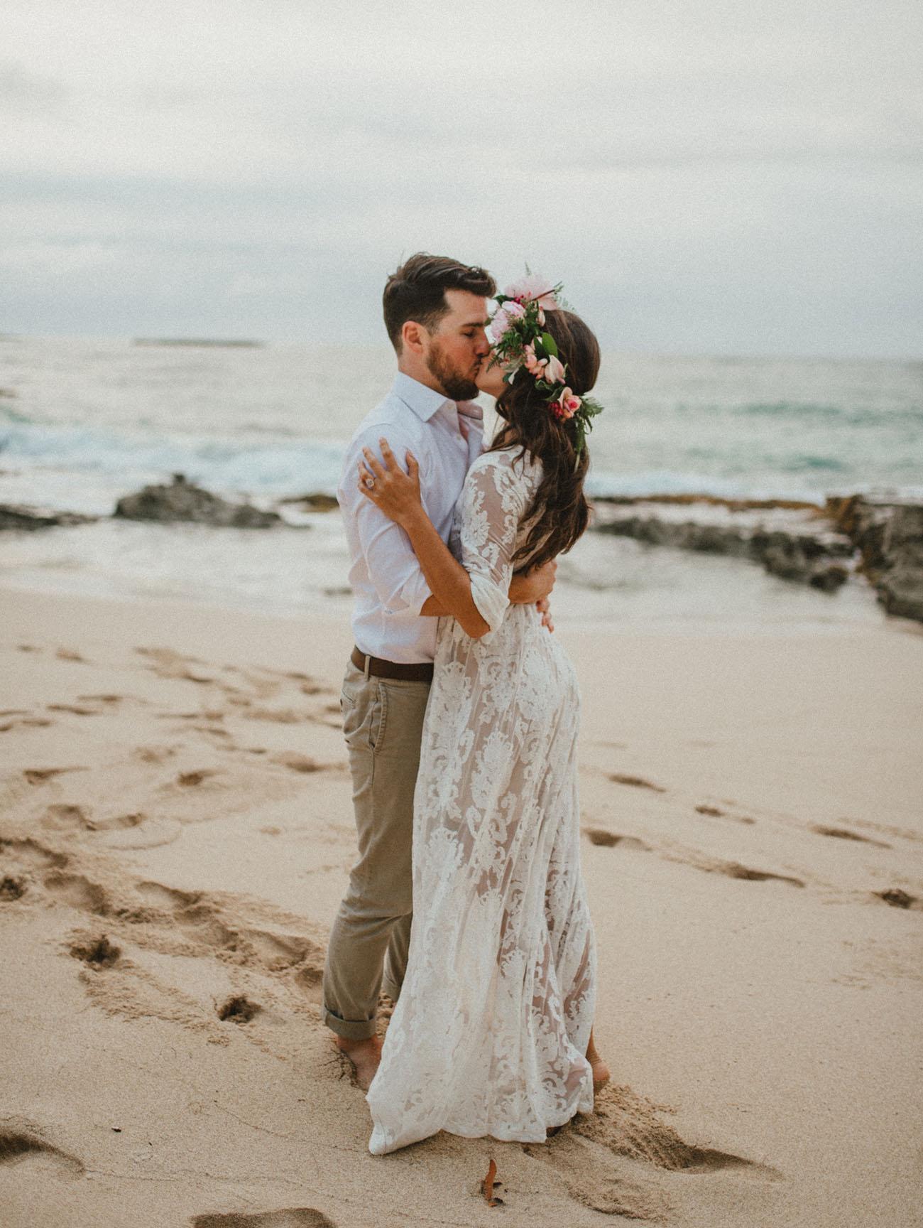 Stunning Surprise Beach Proposal Green Wedding Shoes