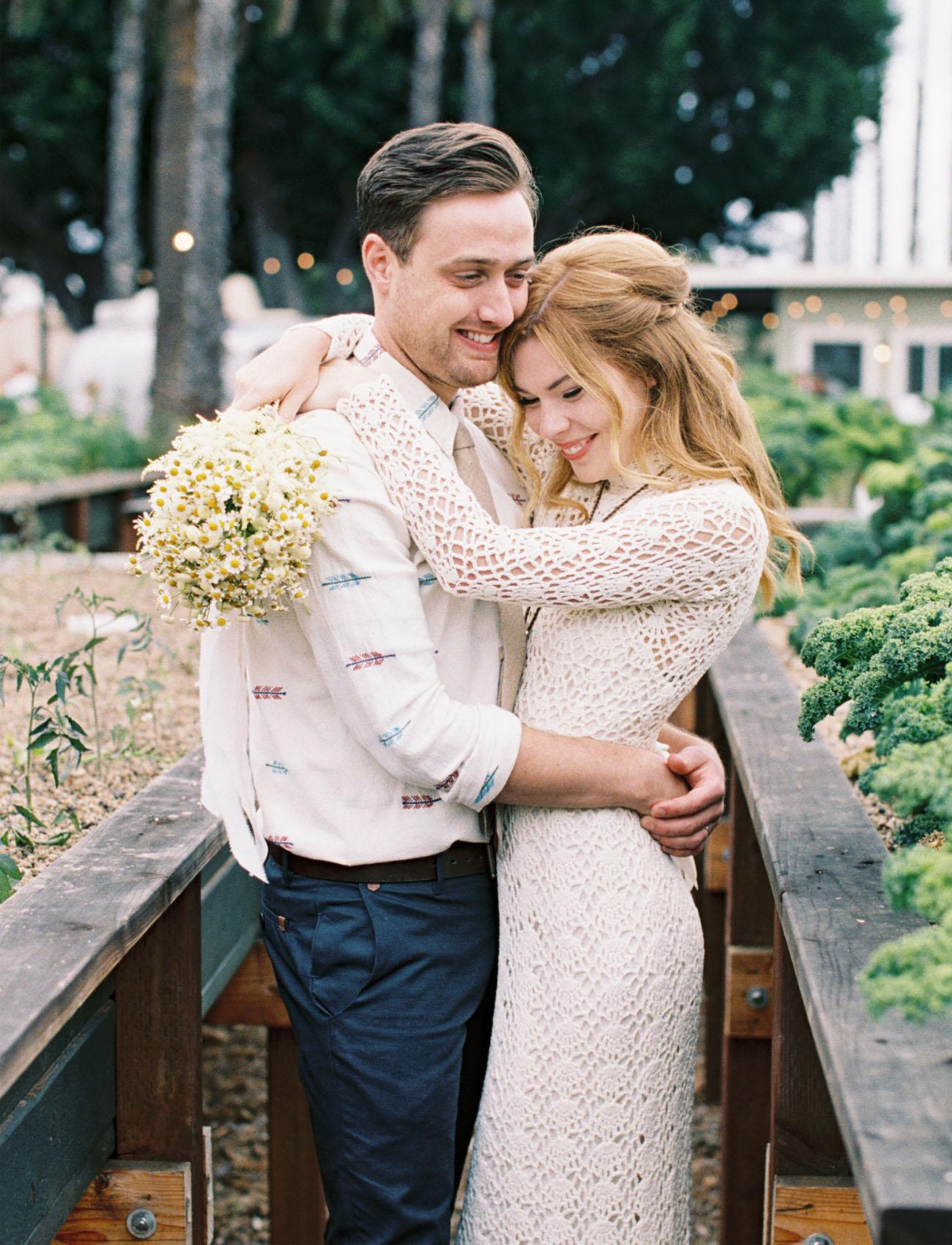 Boho Vintage Urban Farm Wedding: Courtney + Eric