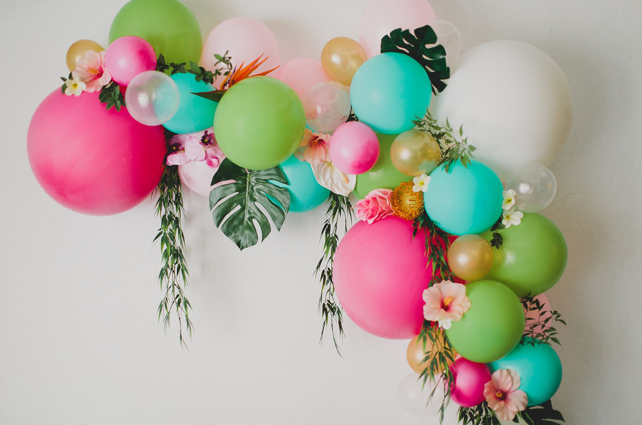 Balloon arch for wedding - Diy Floral Balloon Arch
