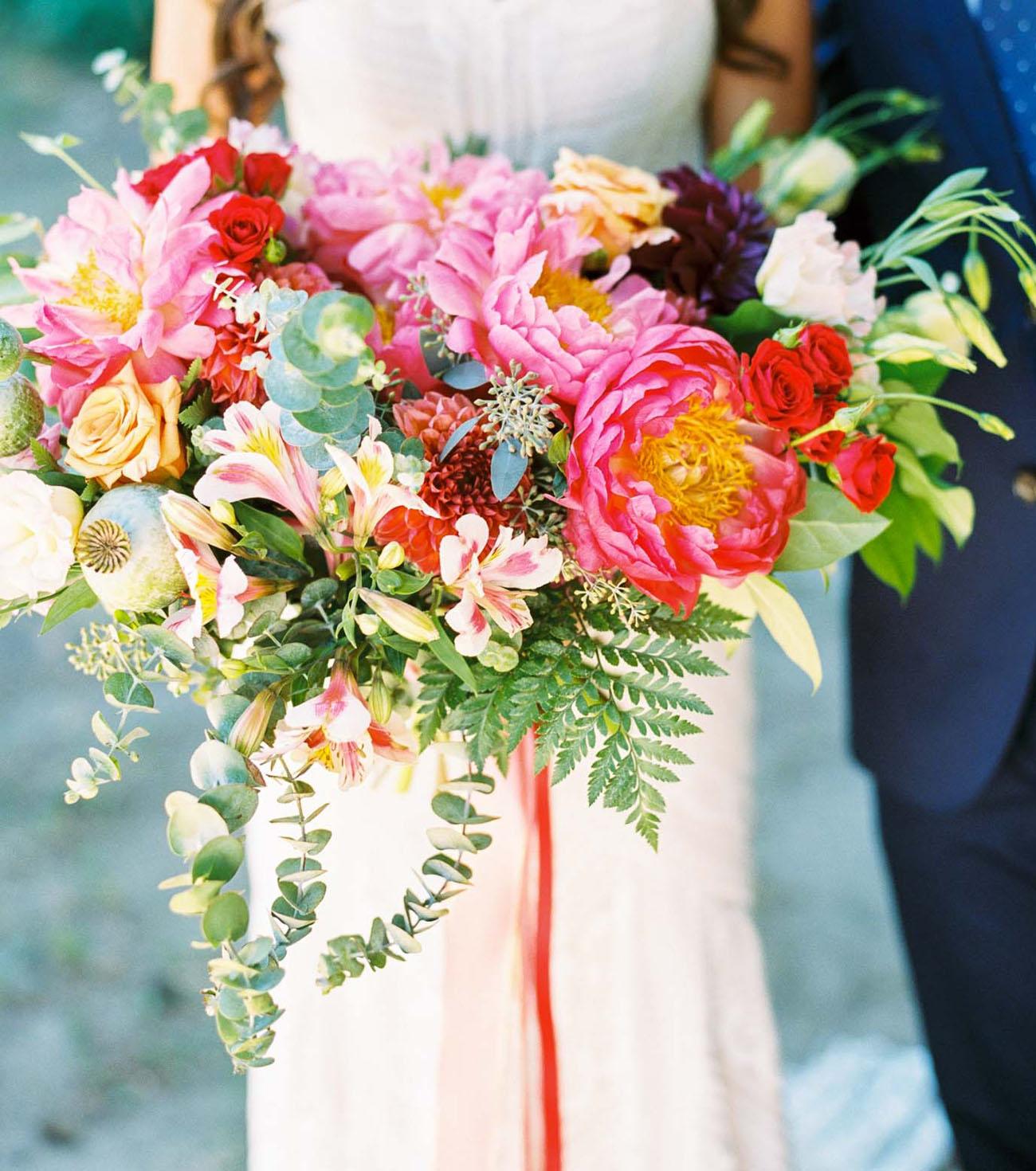 boho peony bouquet