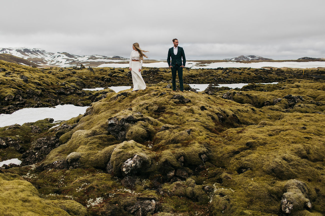 Lakeside Iceland Wedding