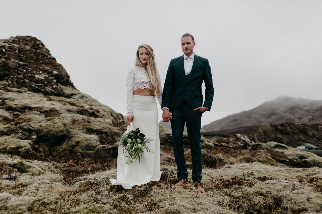 Lakeside Iceland Wedding