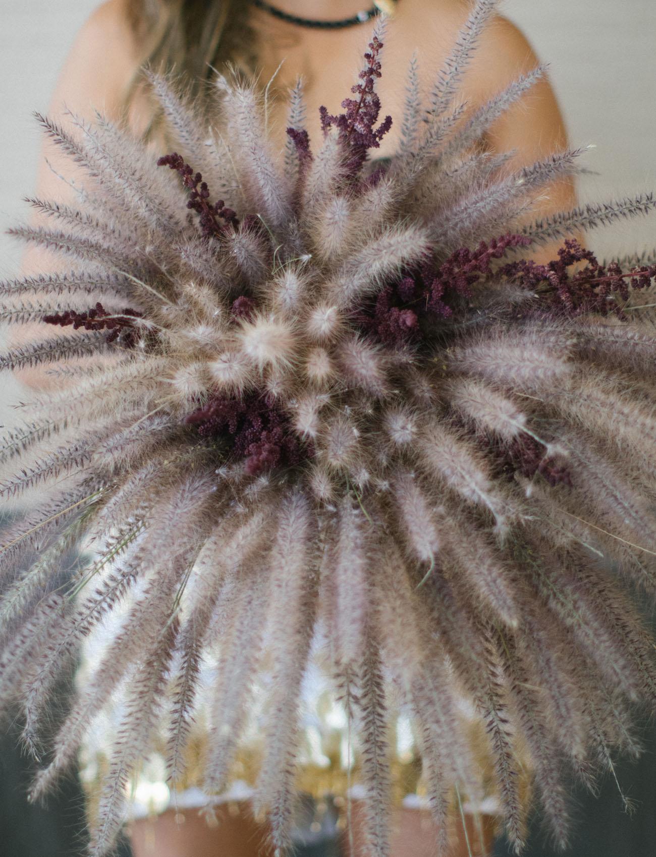 fluffy purple bouquet