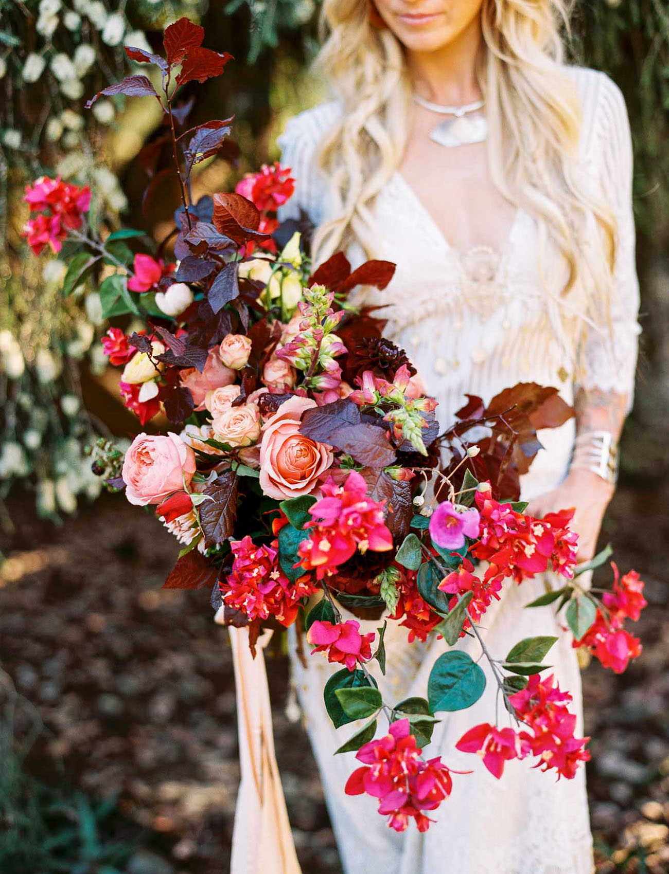 red loose bouquet