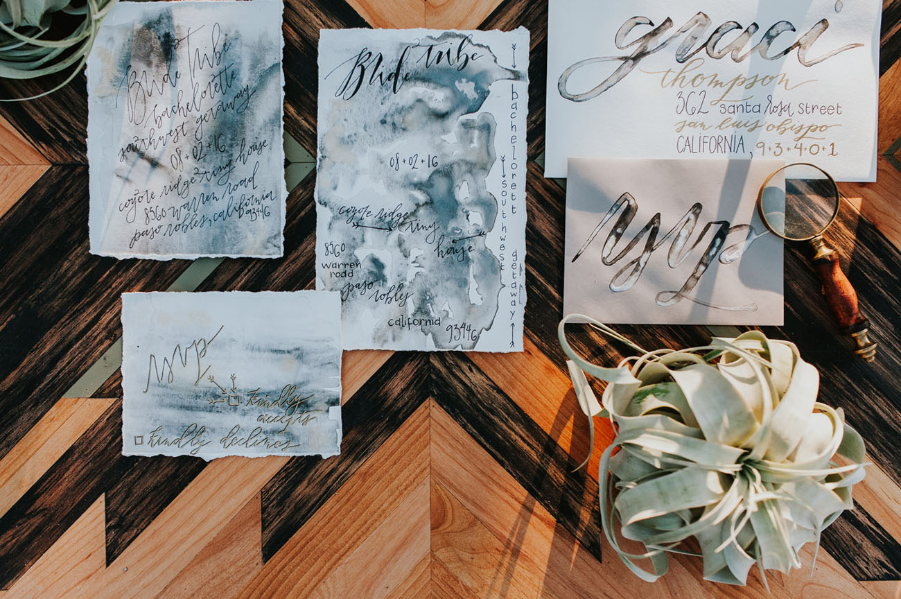 dyed invitations
