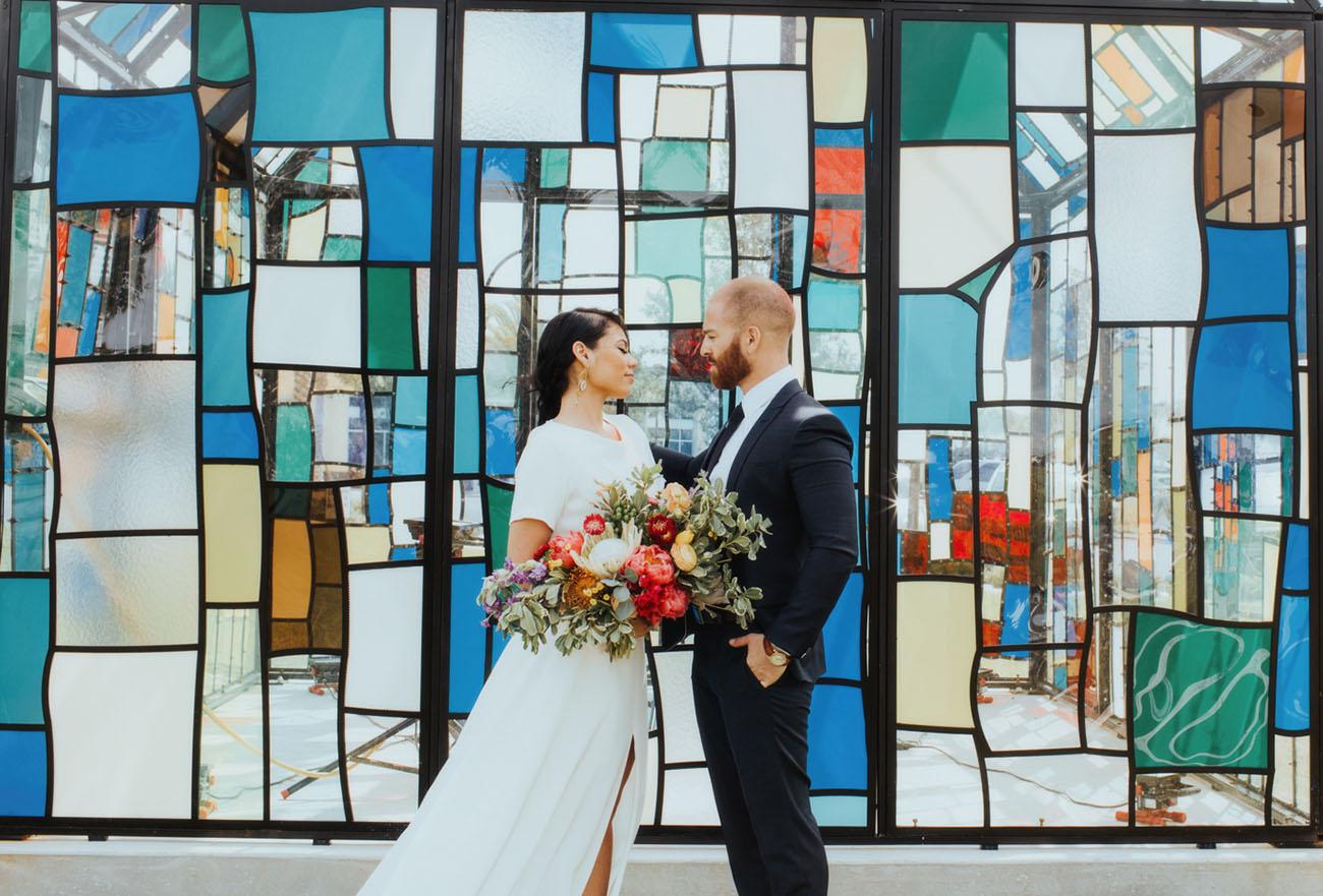 modern colorful glass house wedding inspiration green wedding shoes bloglovin