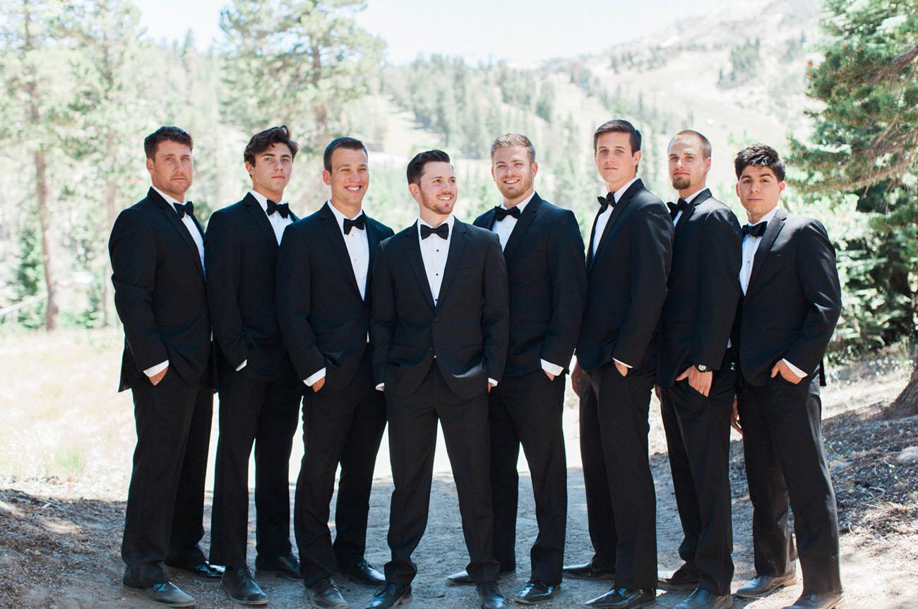 black tux groomsmen