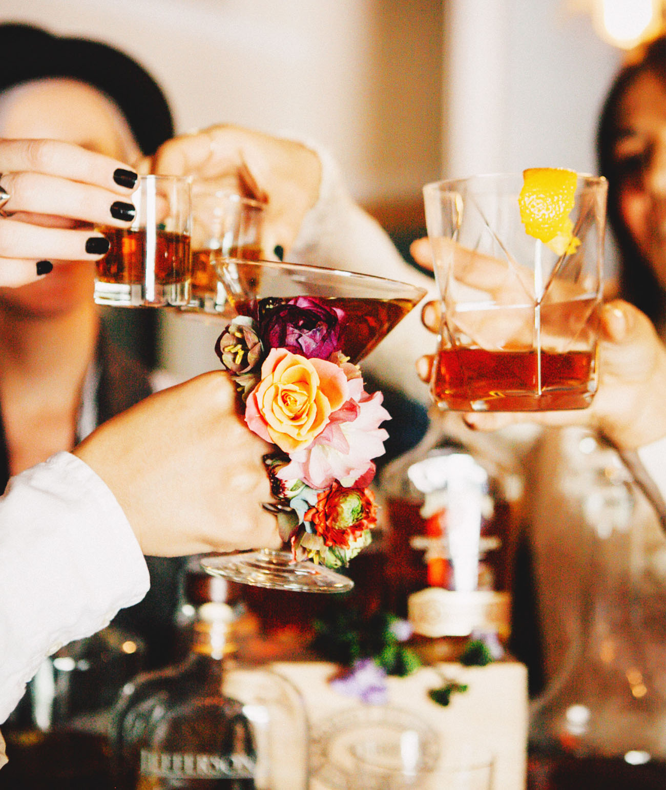 Whiskey Tasting Bachelorette Party Inspiration Green
