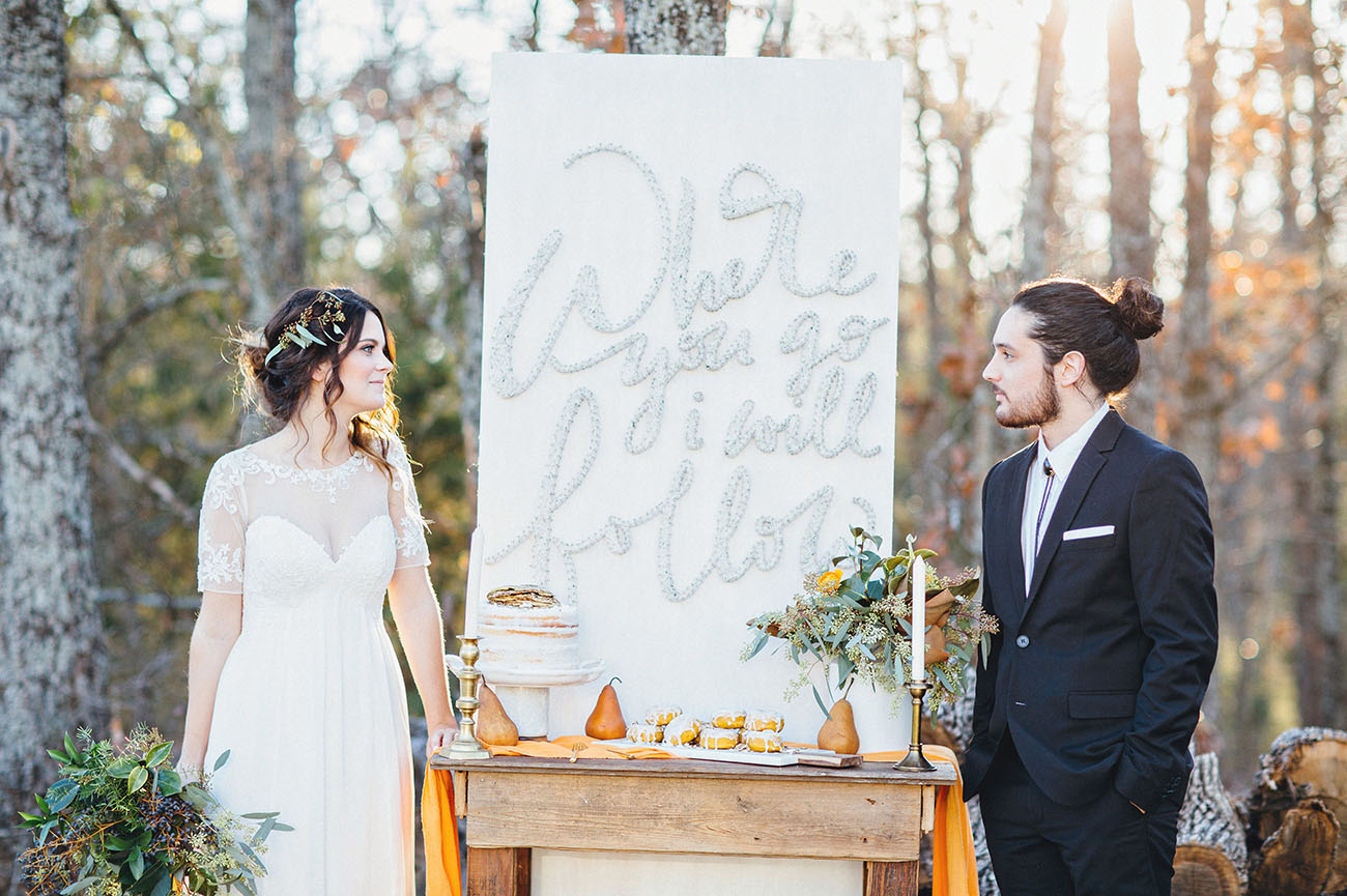 Early Fall Elopement Inspiration at White Sparrow Barn - Green ...
