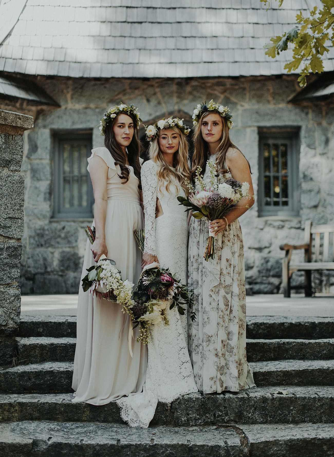 flower crown bridesmaids