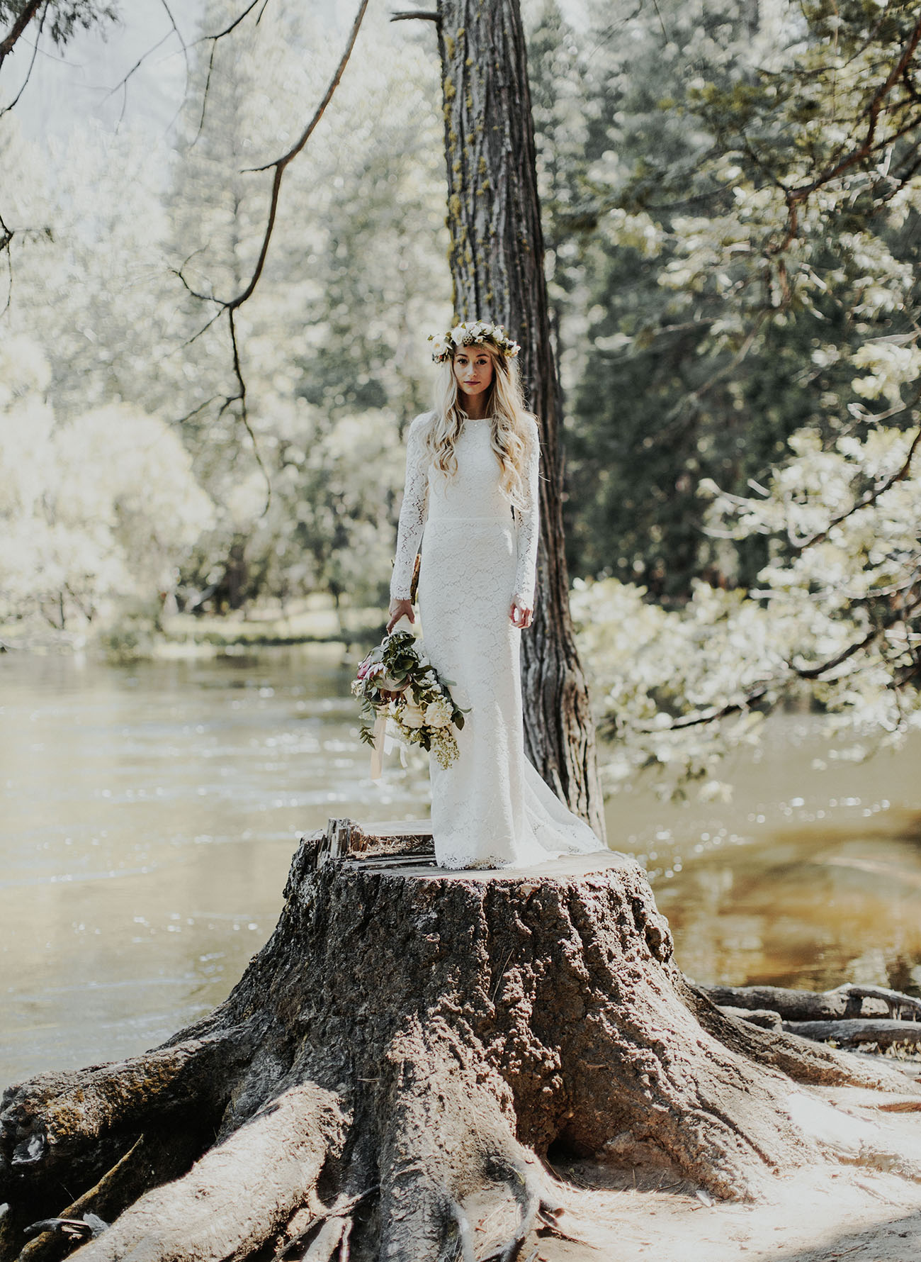 Romantic Yosemite Elopement Rayne Michael Green