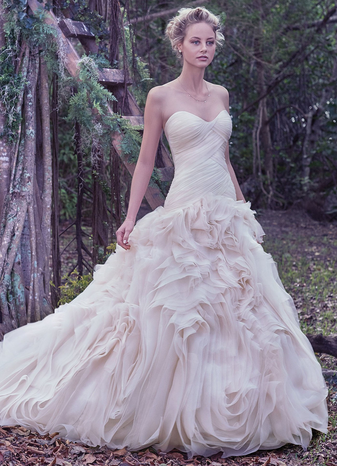 Fit N Flare Wedding Dresses 99 Beautiful The swirling tulle and