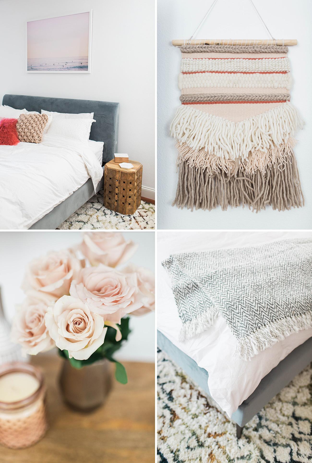 Modern Boho Bedroom Details