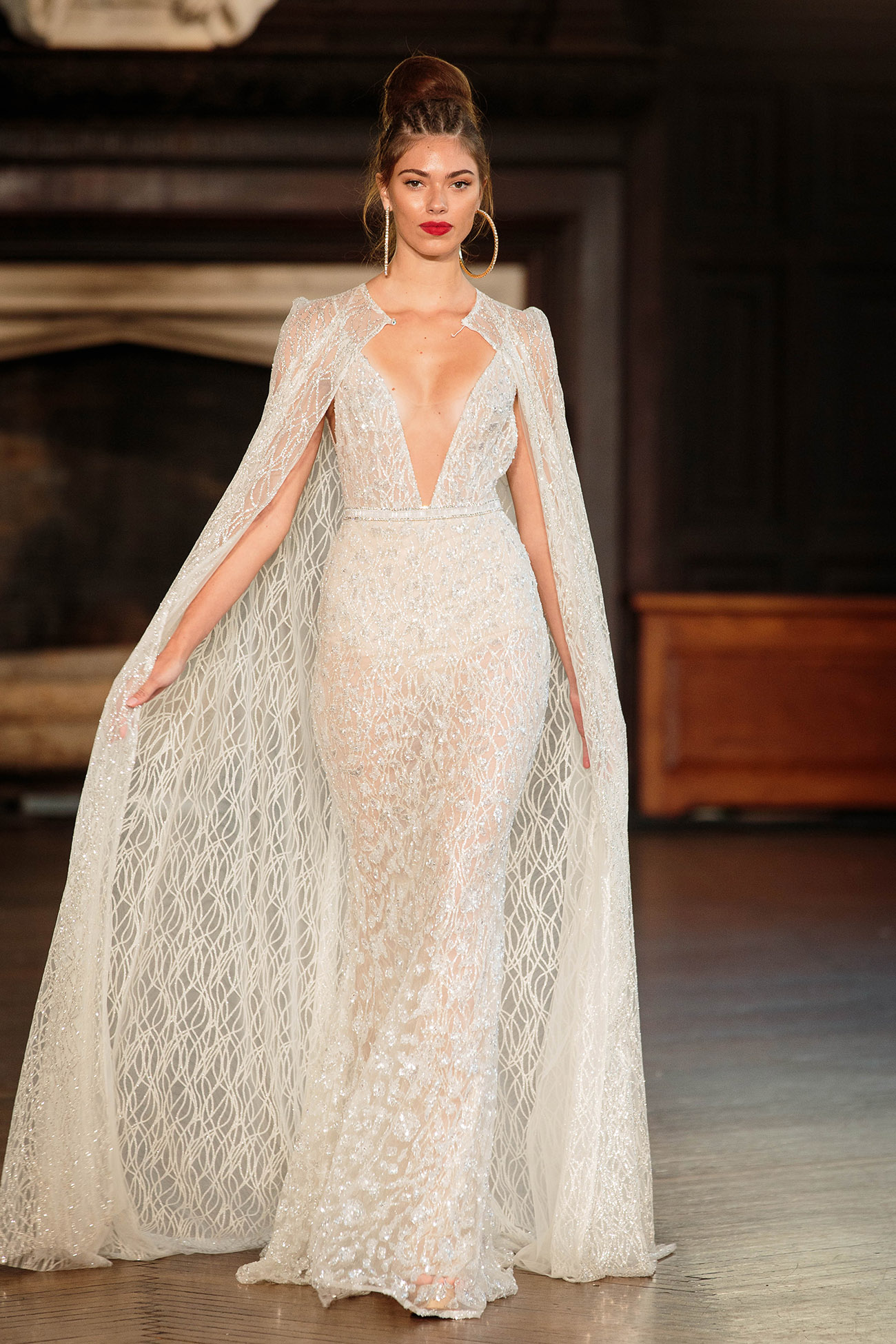 berta bridal cape