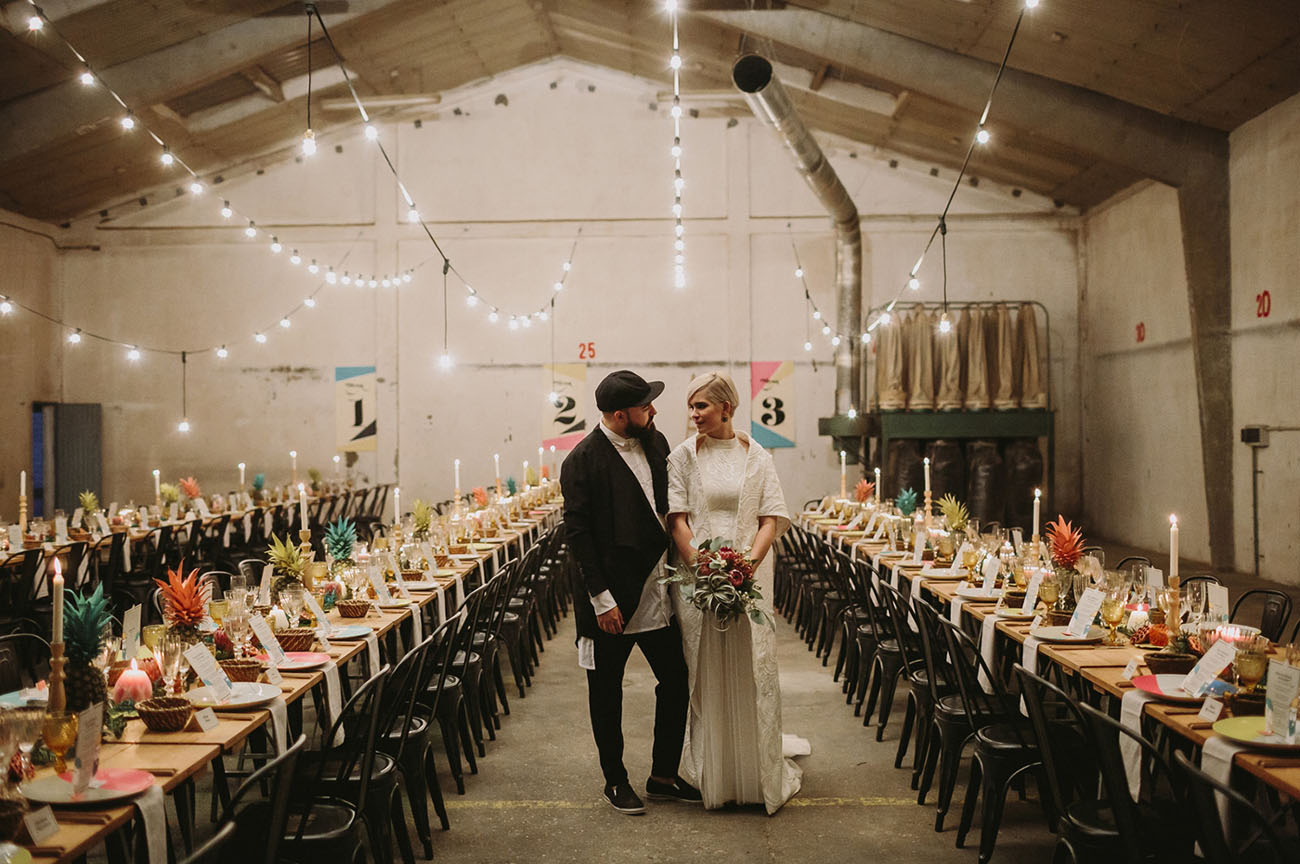 Two DJs Marry in an Old Wood Factory in Spain