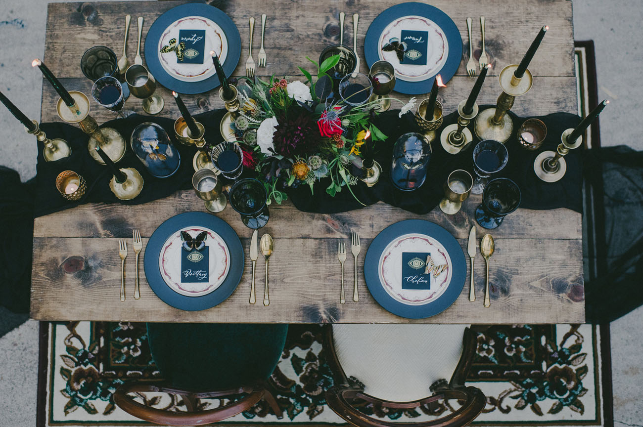 dark tablescape