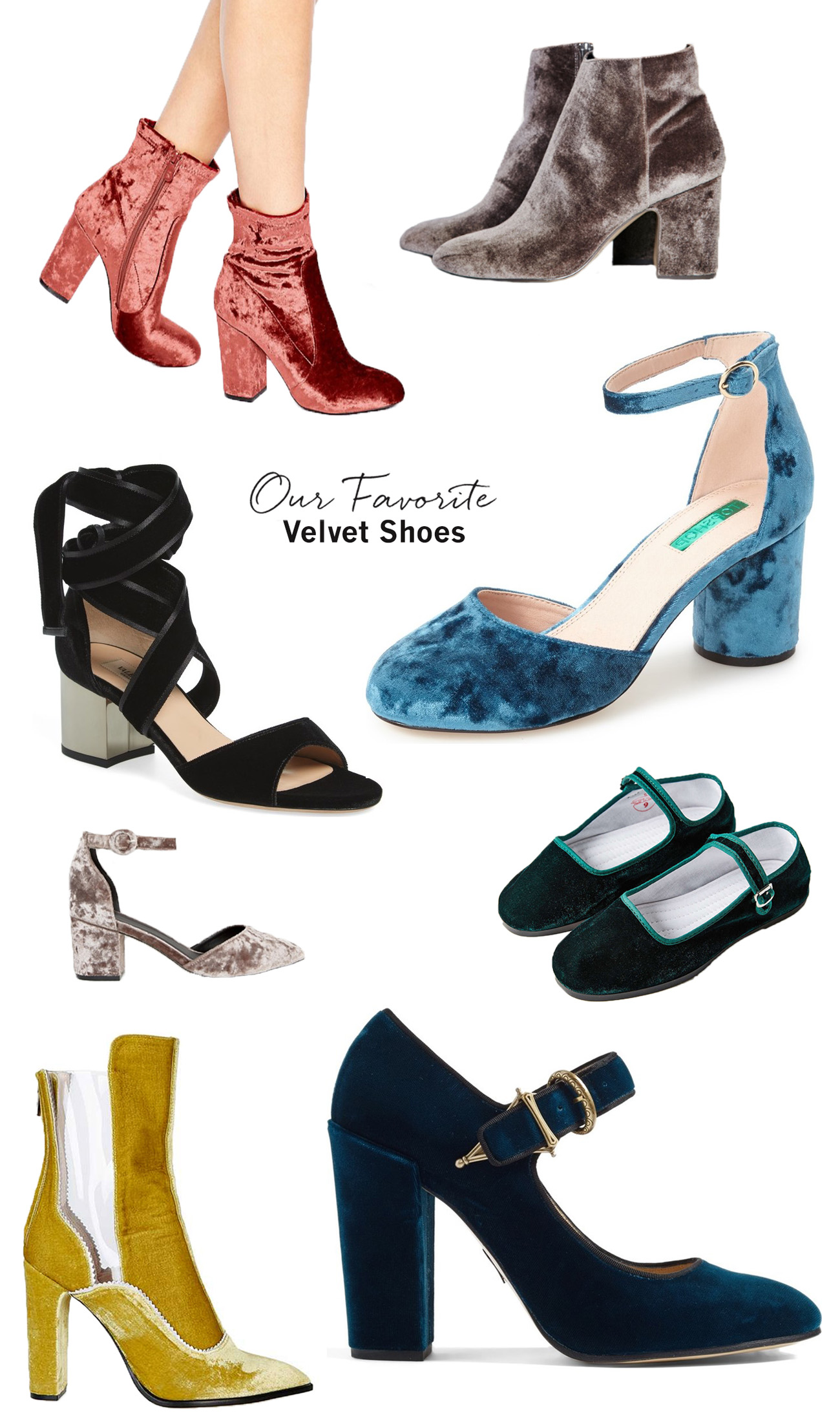 fave velvet shoes and booties