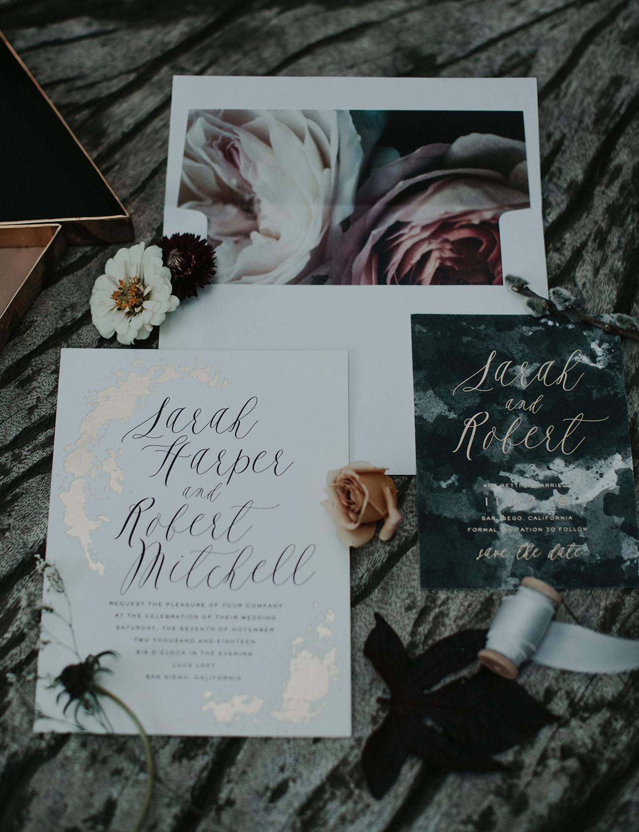 Gothic Wedding Invitations 18 Awesome modern invitation