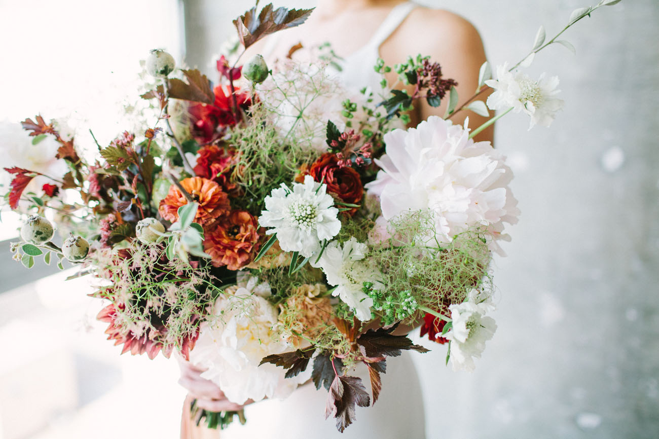 burgundy earthy bouquet