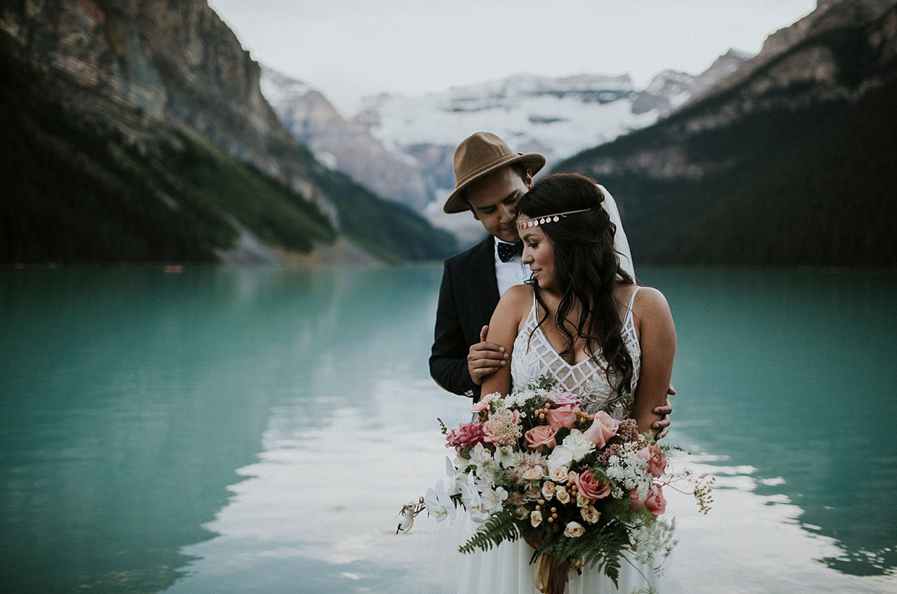 Lake Louise Elopement: Angie + Juan