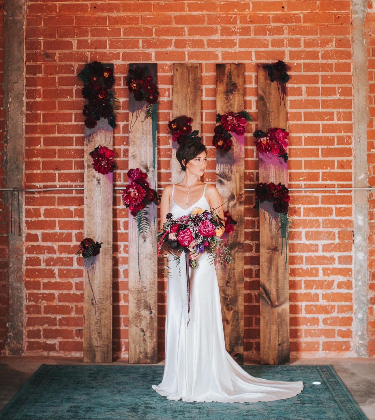 wooden flower backdrop