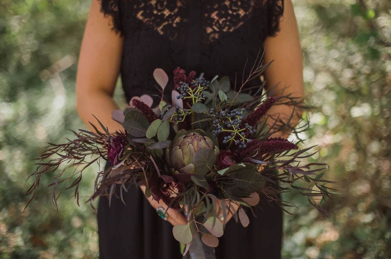 dark moody bouquet