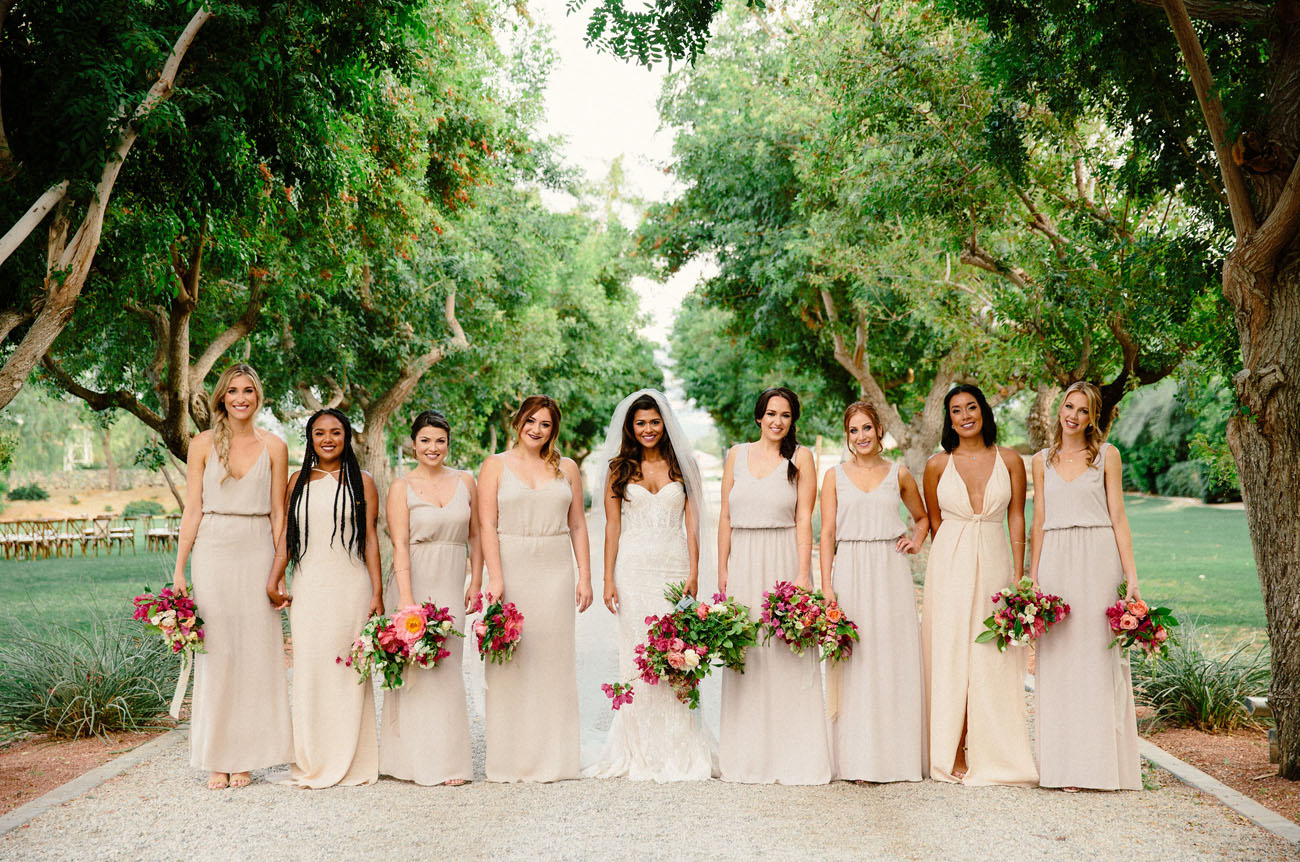 Bougainvillea Filled Palm Springs Wedding Andrea Brian Green