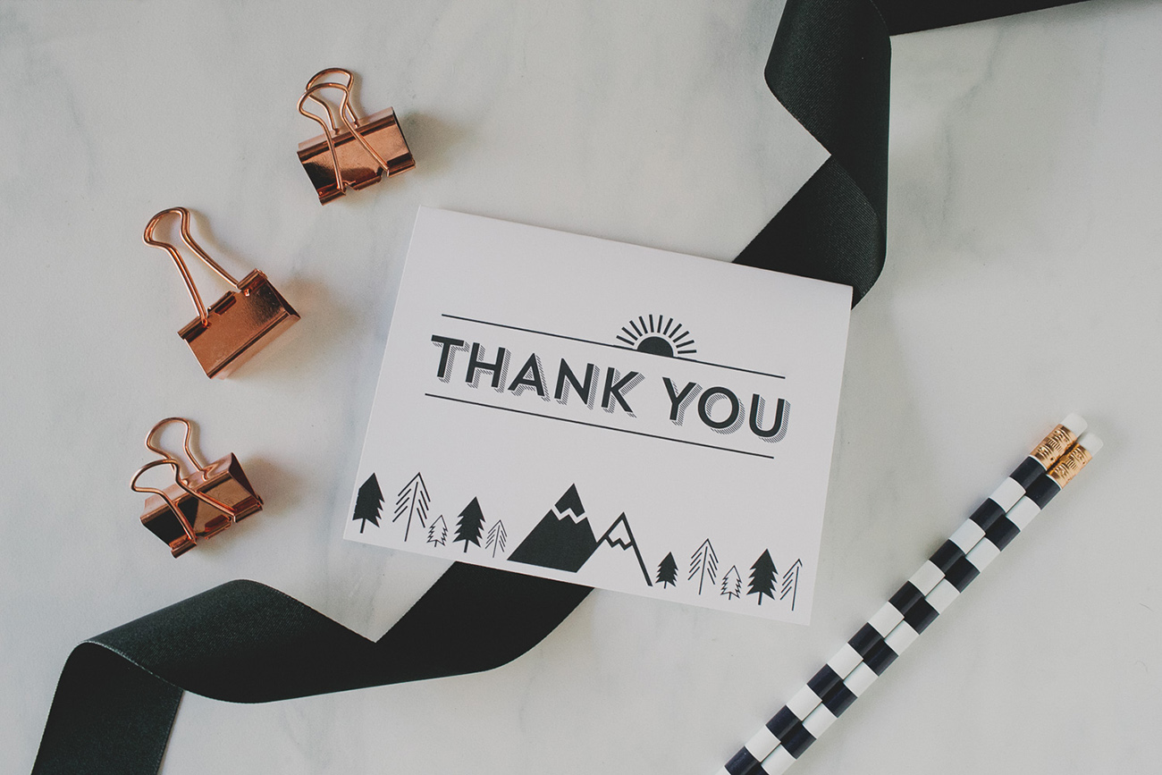 Free Thank You Card Template outdoor theme