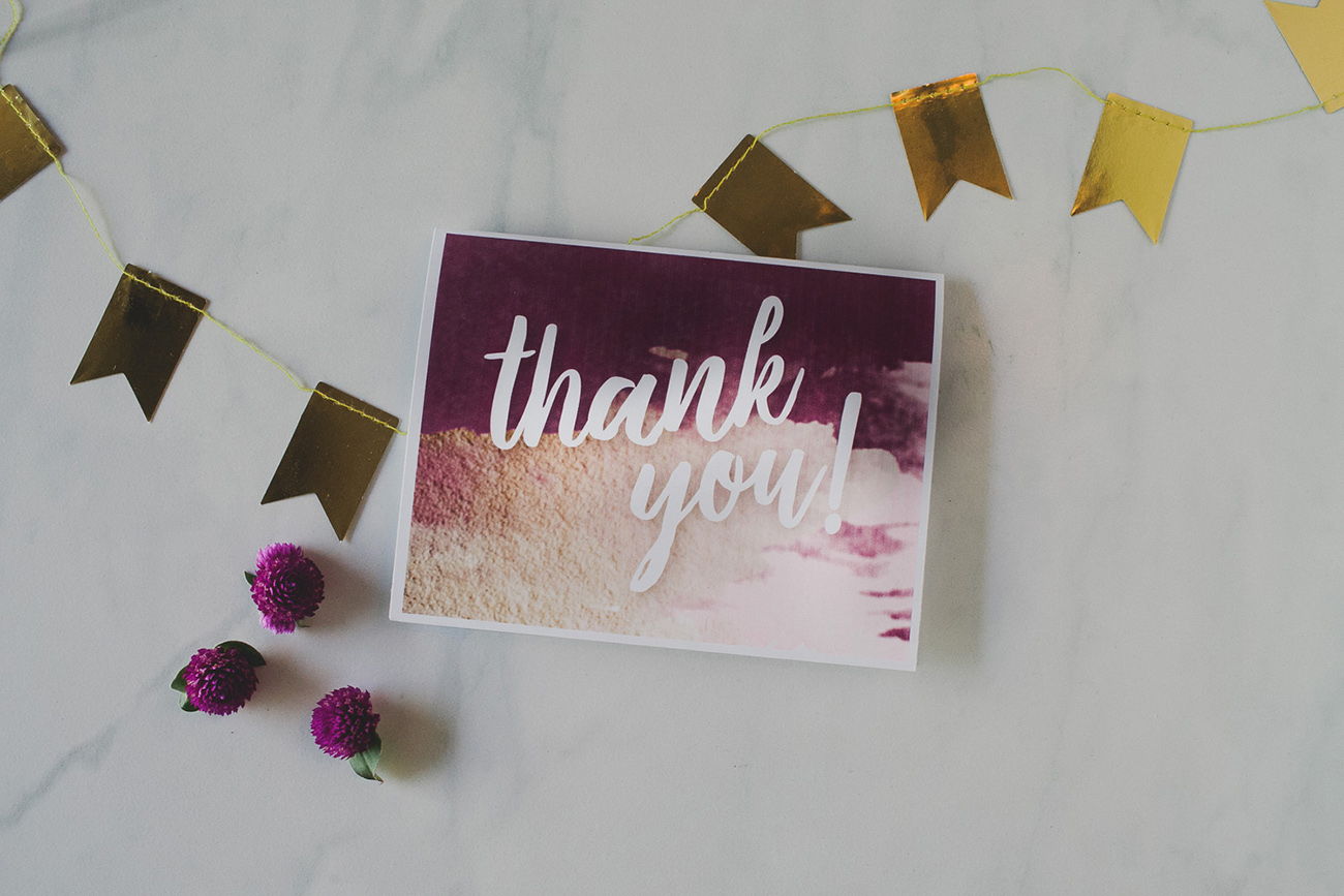 Free Thank You Card Template modern theme