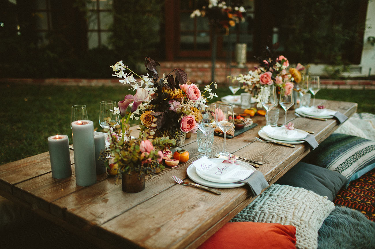backyard engagement dinner