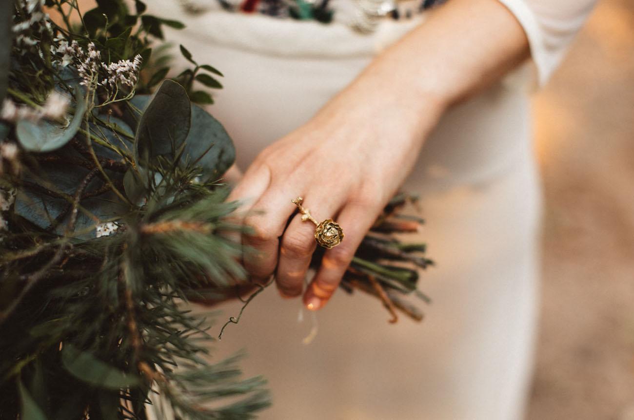 pinecone ring