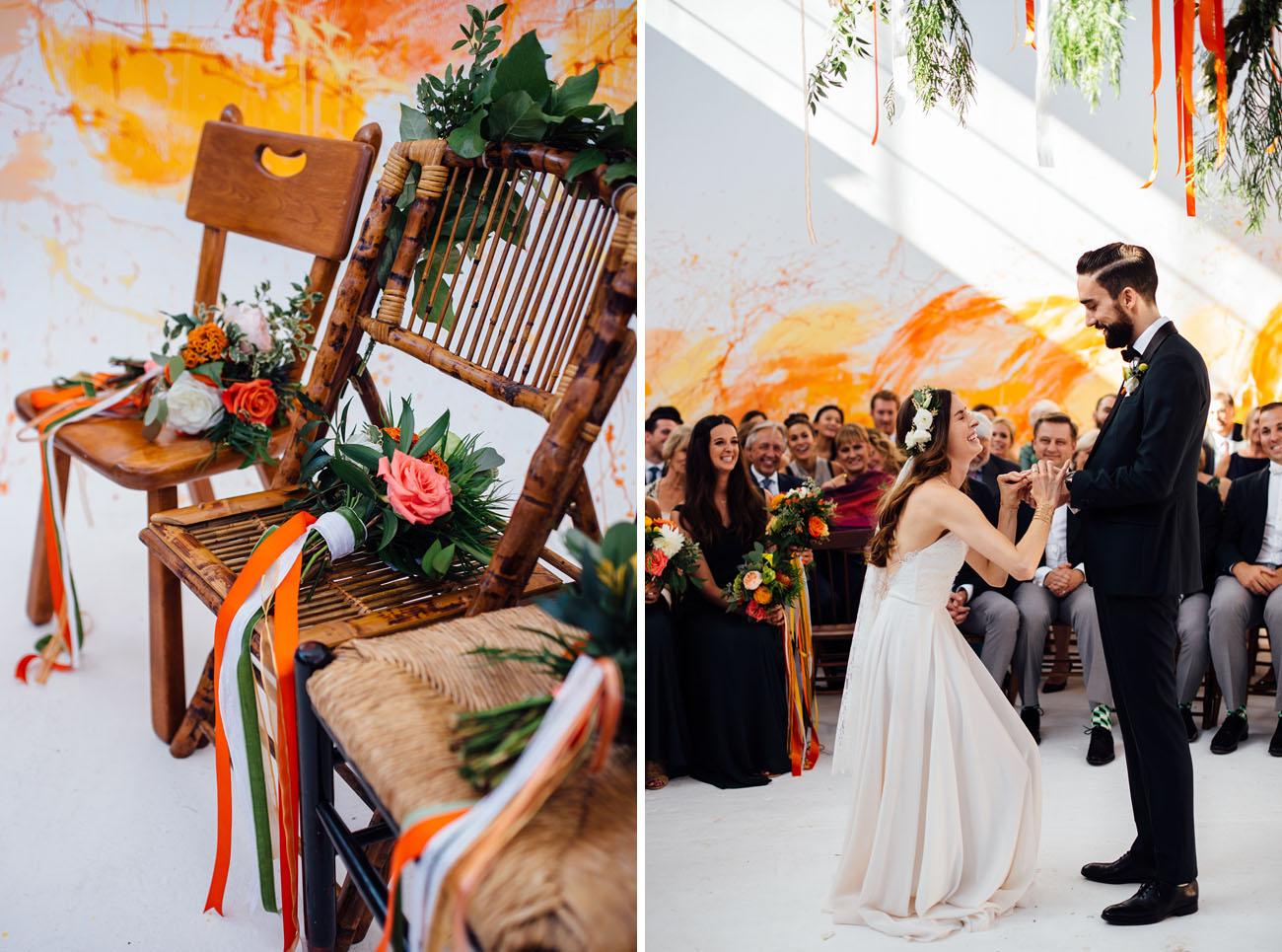 Modern Paint Splatter Wedding