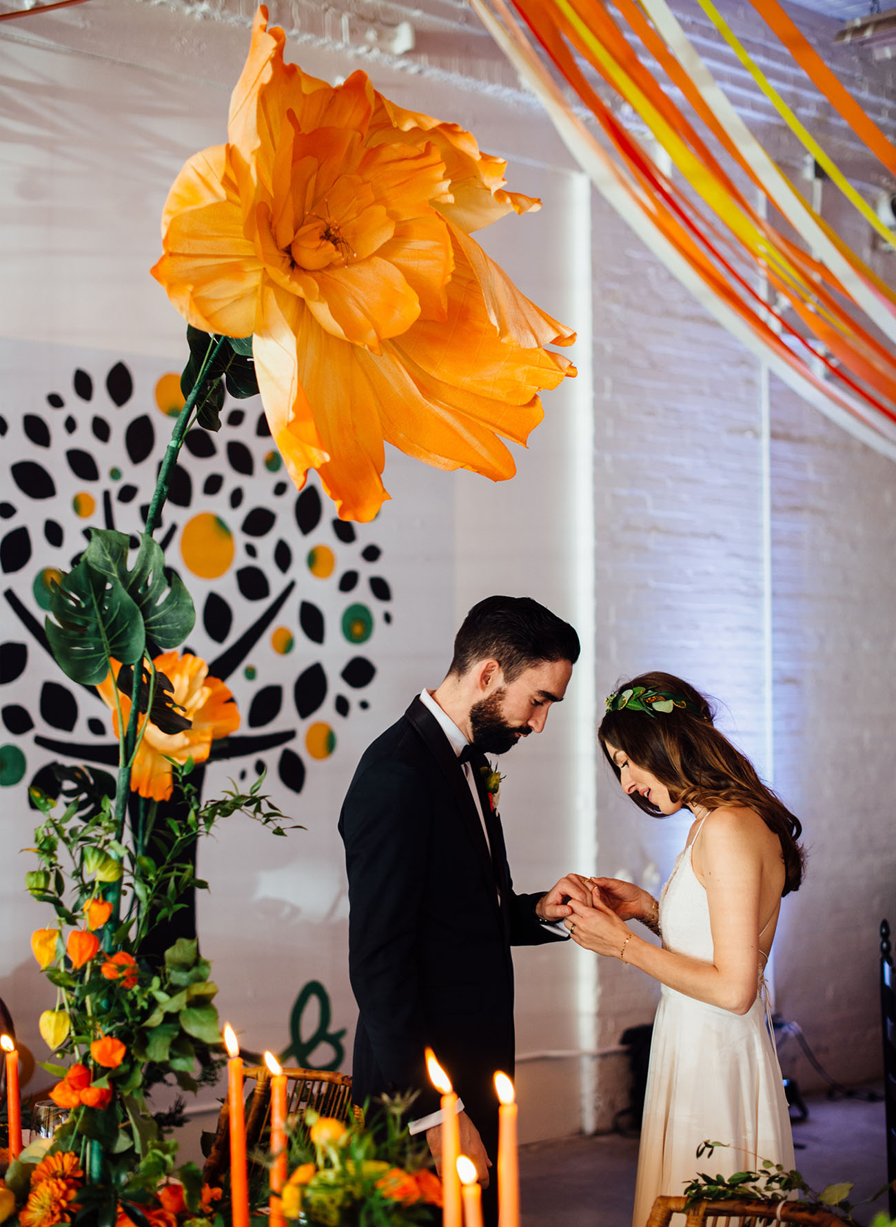 Modern Paint Splatter Wedding