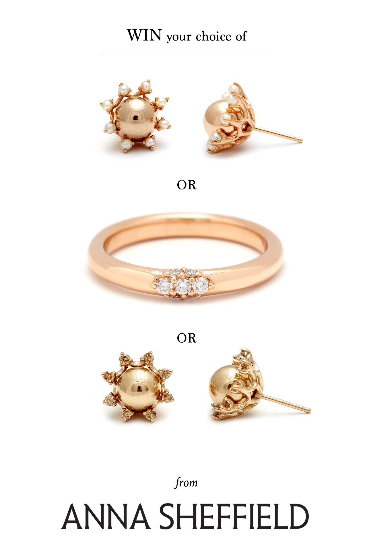 Win your choice of from Anna Sheffield
