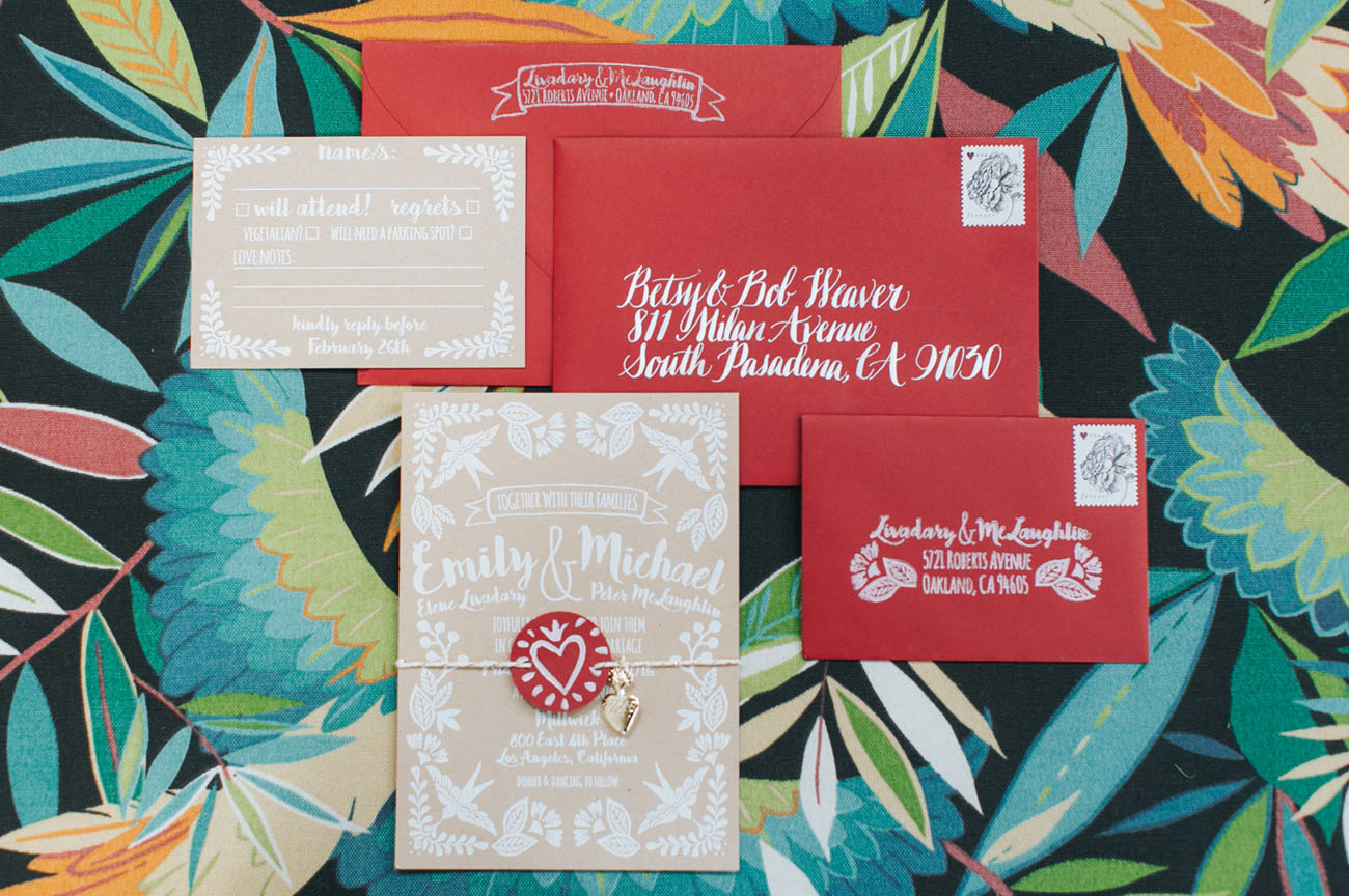red invitations
