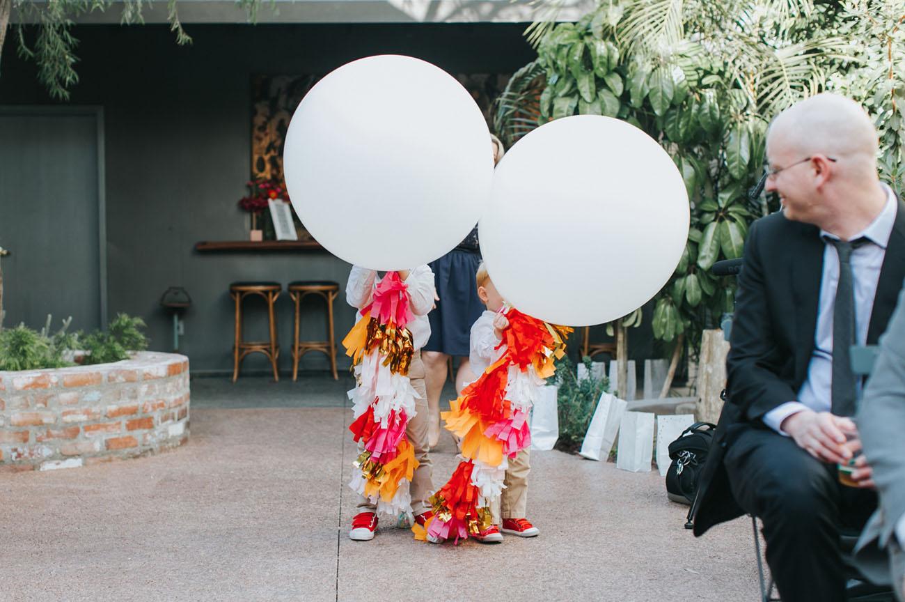 giant balloon tassels