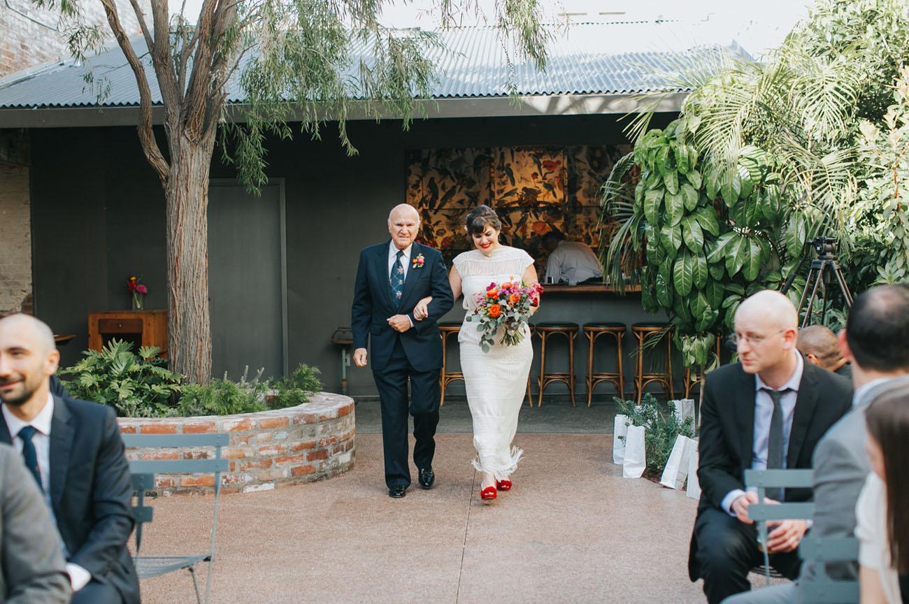Colorful Los Angeles Wedding