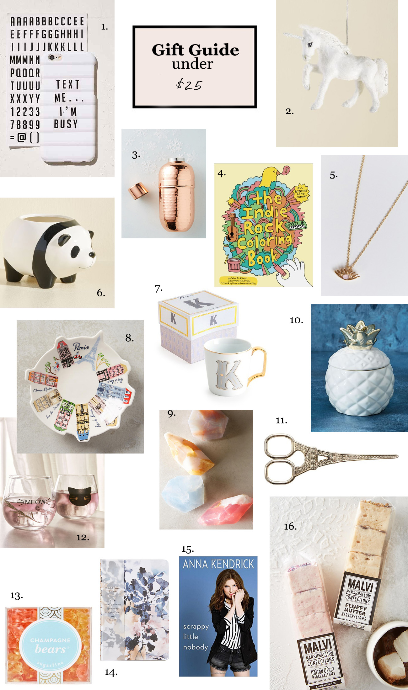 gift guide for under $25