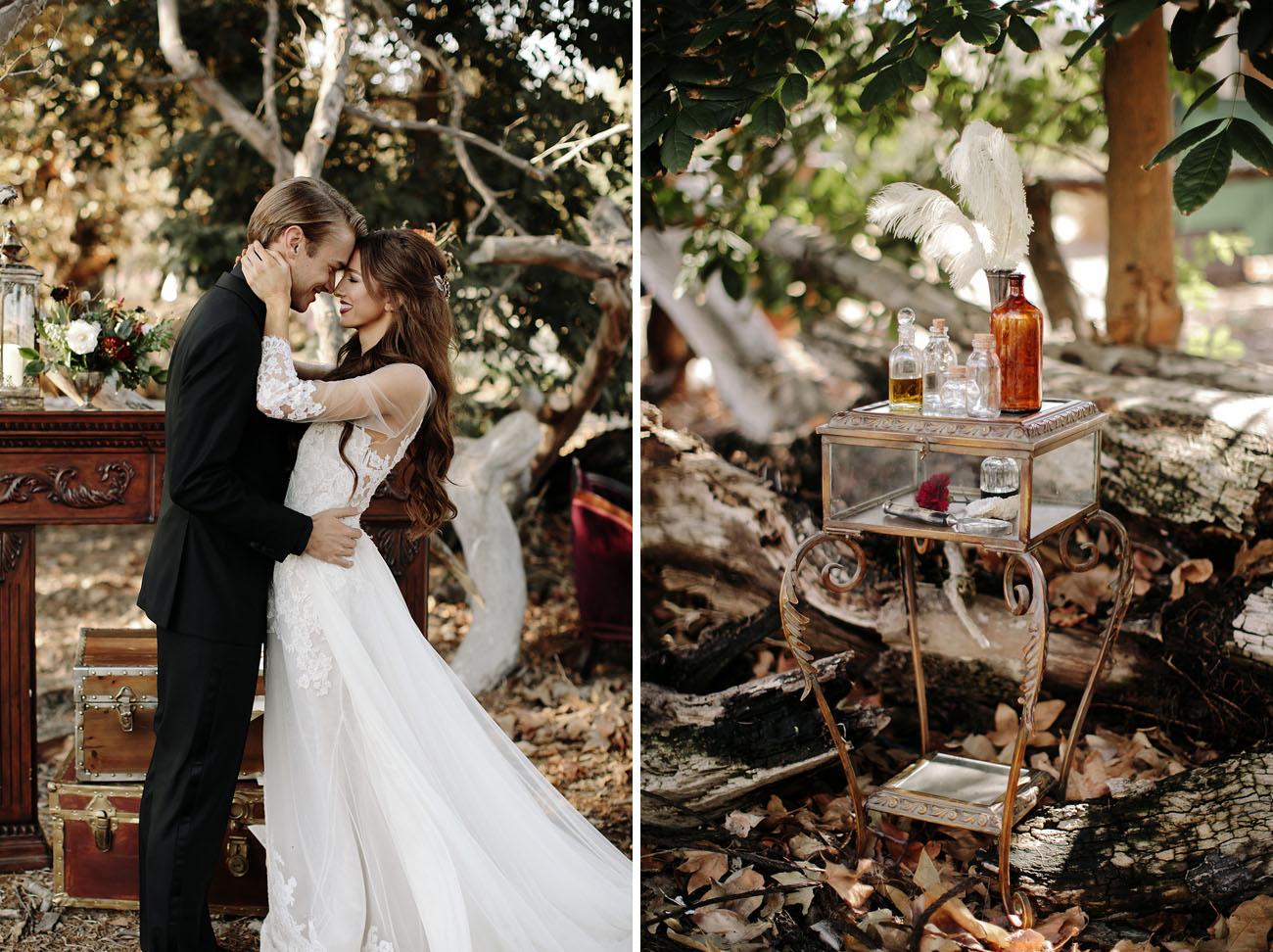 Fantastic Beasts Meets Harry Potter Wedding Inspiration