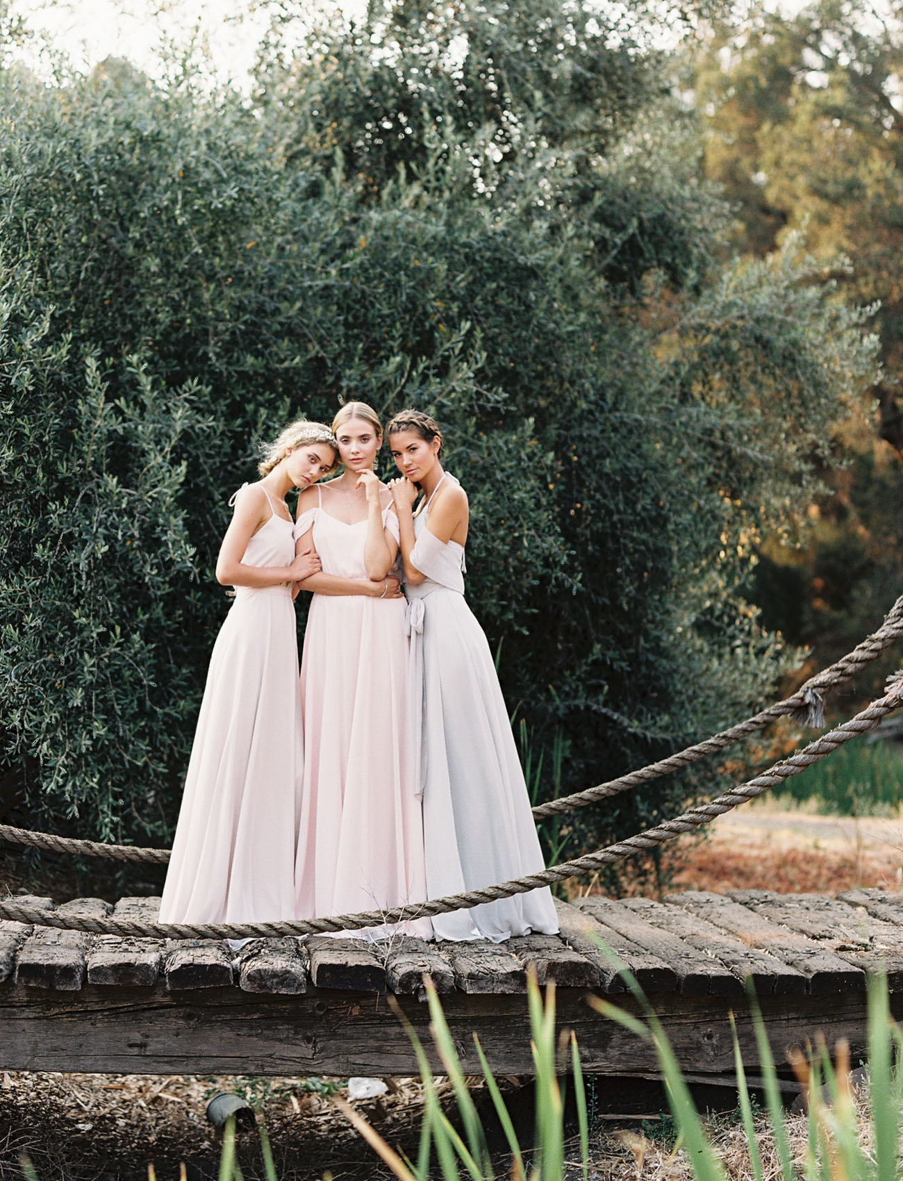 The new romantic bridesmaid dresses by joanna august green joanna august ombrellifo Images