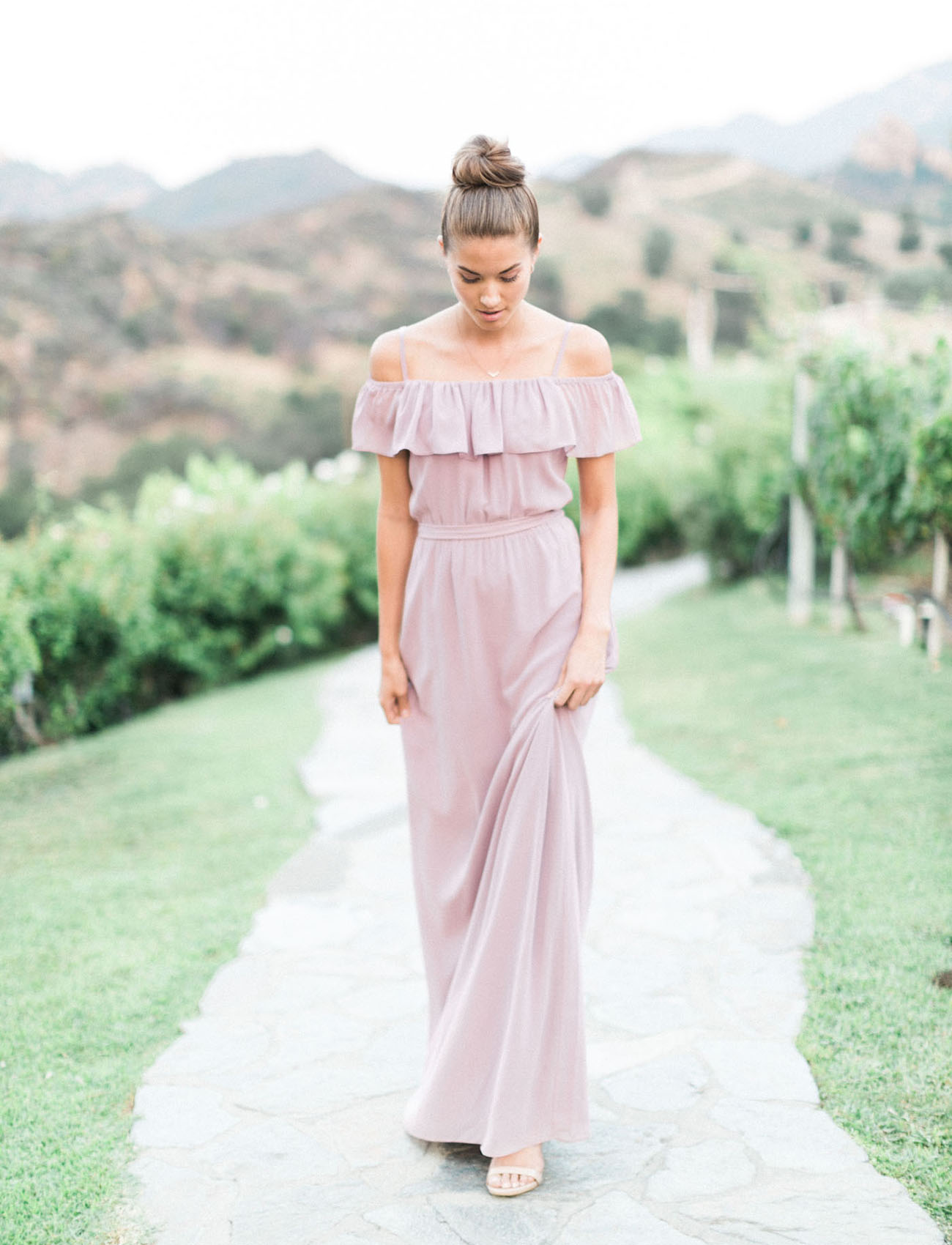 U201cThe New Romanticu201d Bridesmaid Dresses by Joanna August | Green Wedding Shoes | Weddings Fashion ...