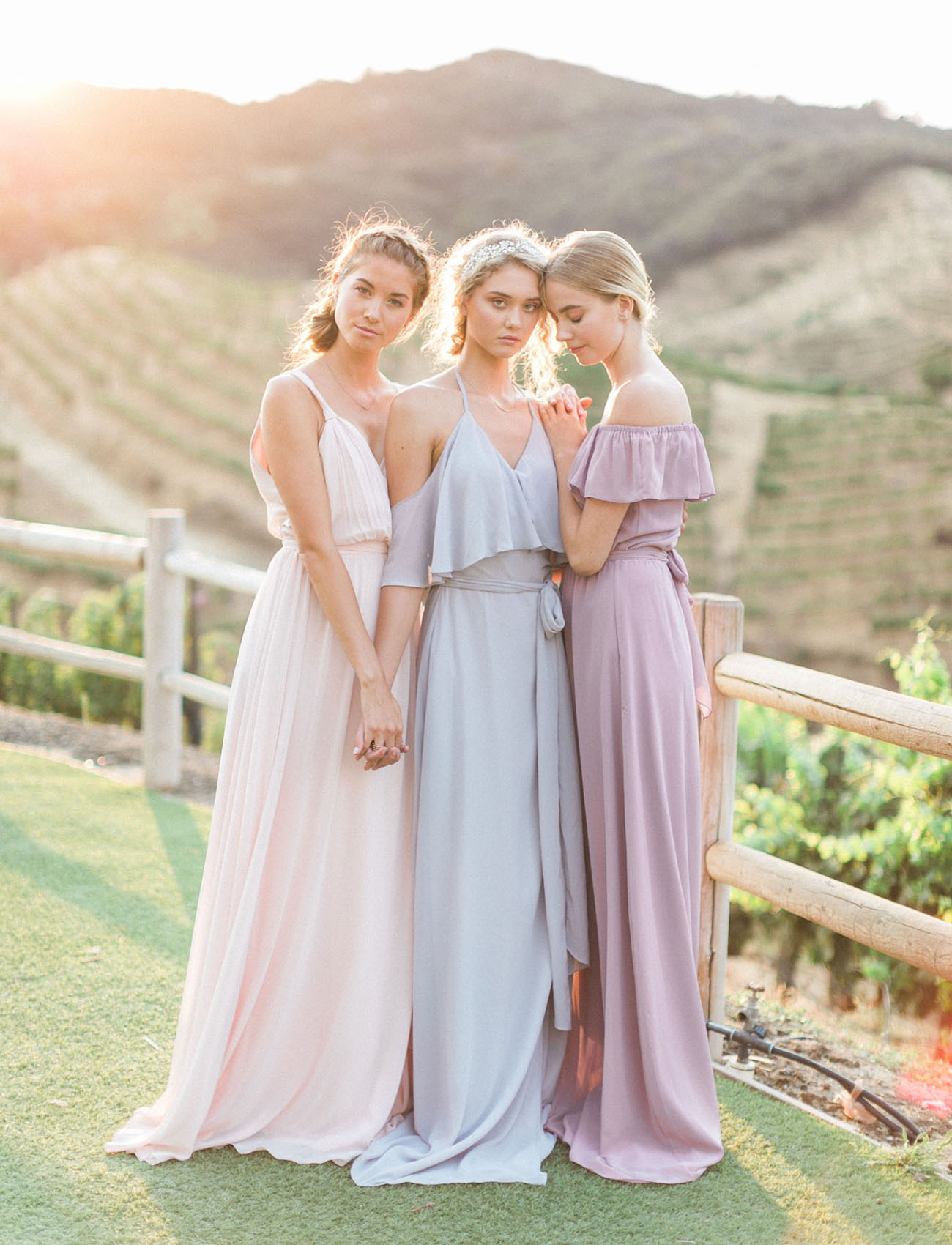 The new romantic bridesmaid dresses by joanna august for Wedding dresses bridesmaid