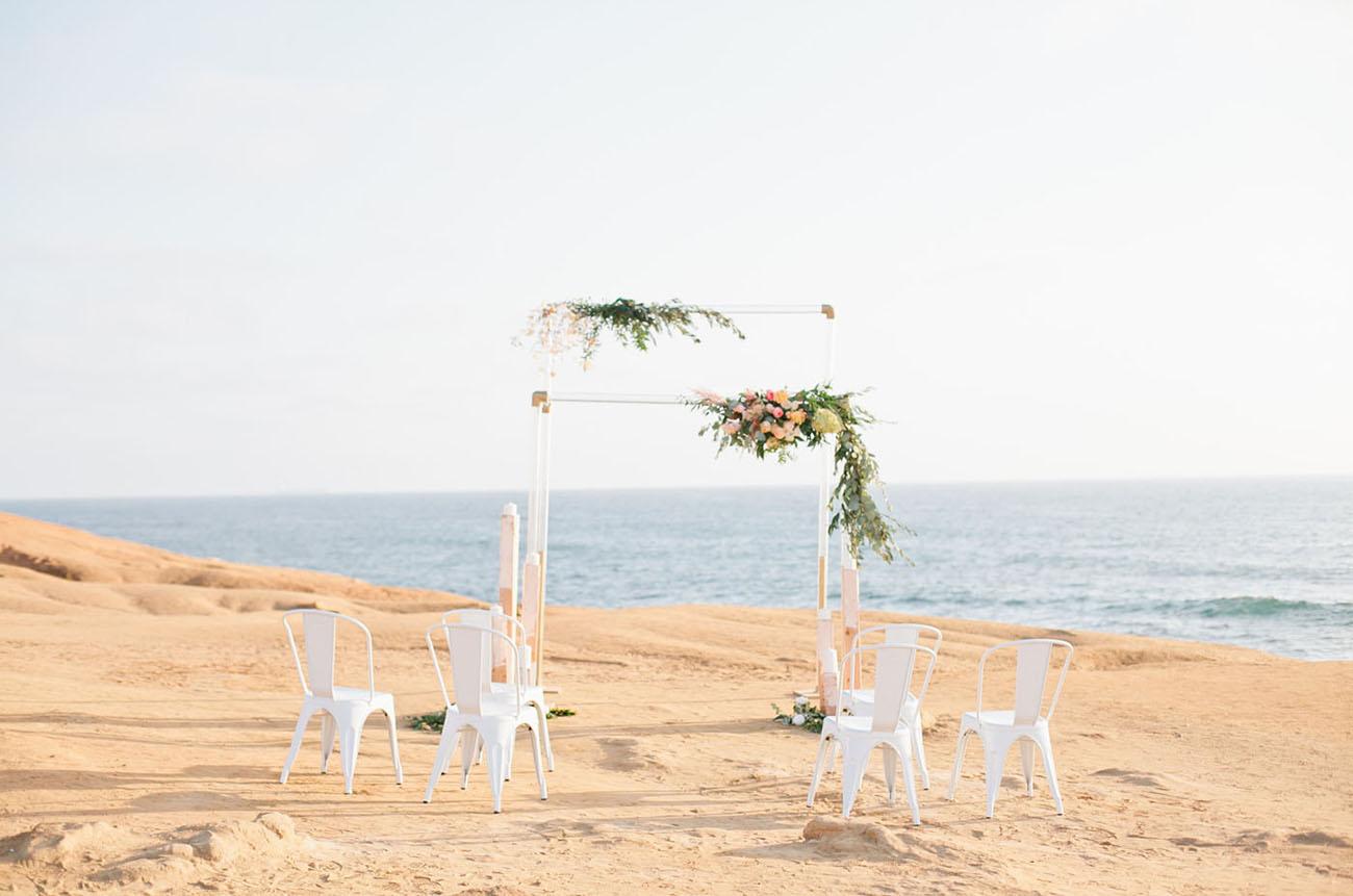 acrylic ceremony backdrop