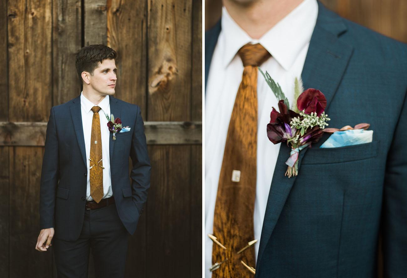 navy suit groom
